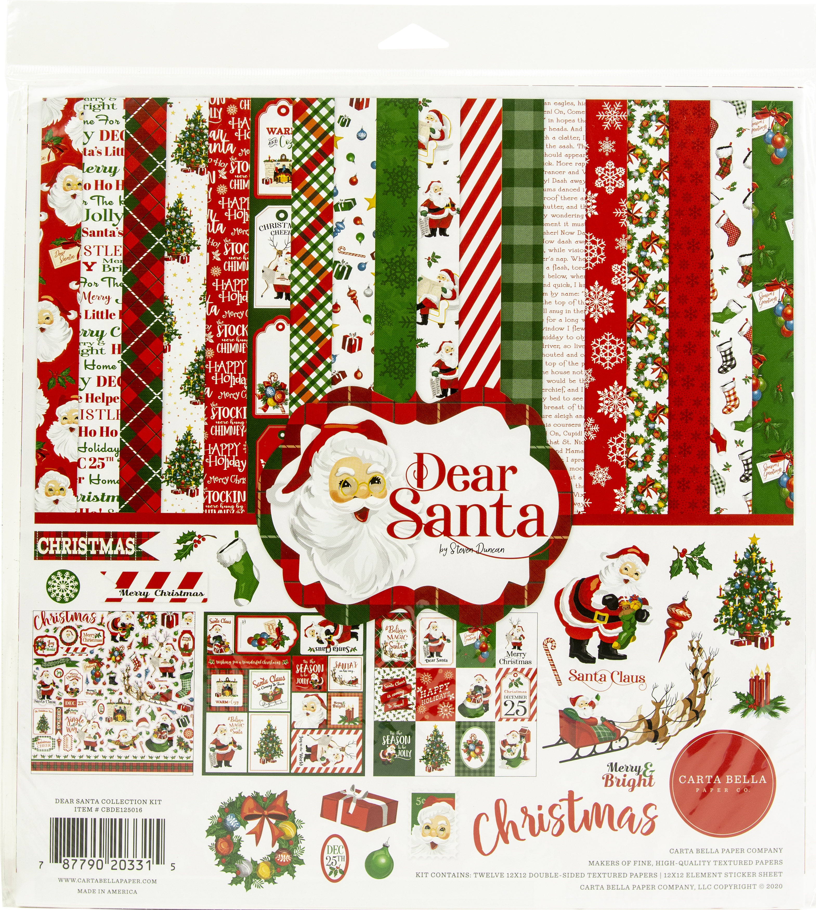 Carta Bella Dear Santa Collection Kit 12x12