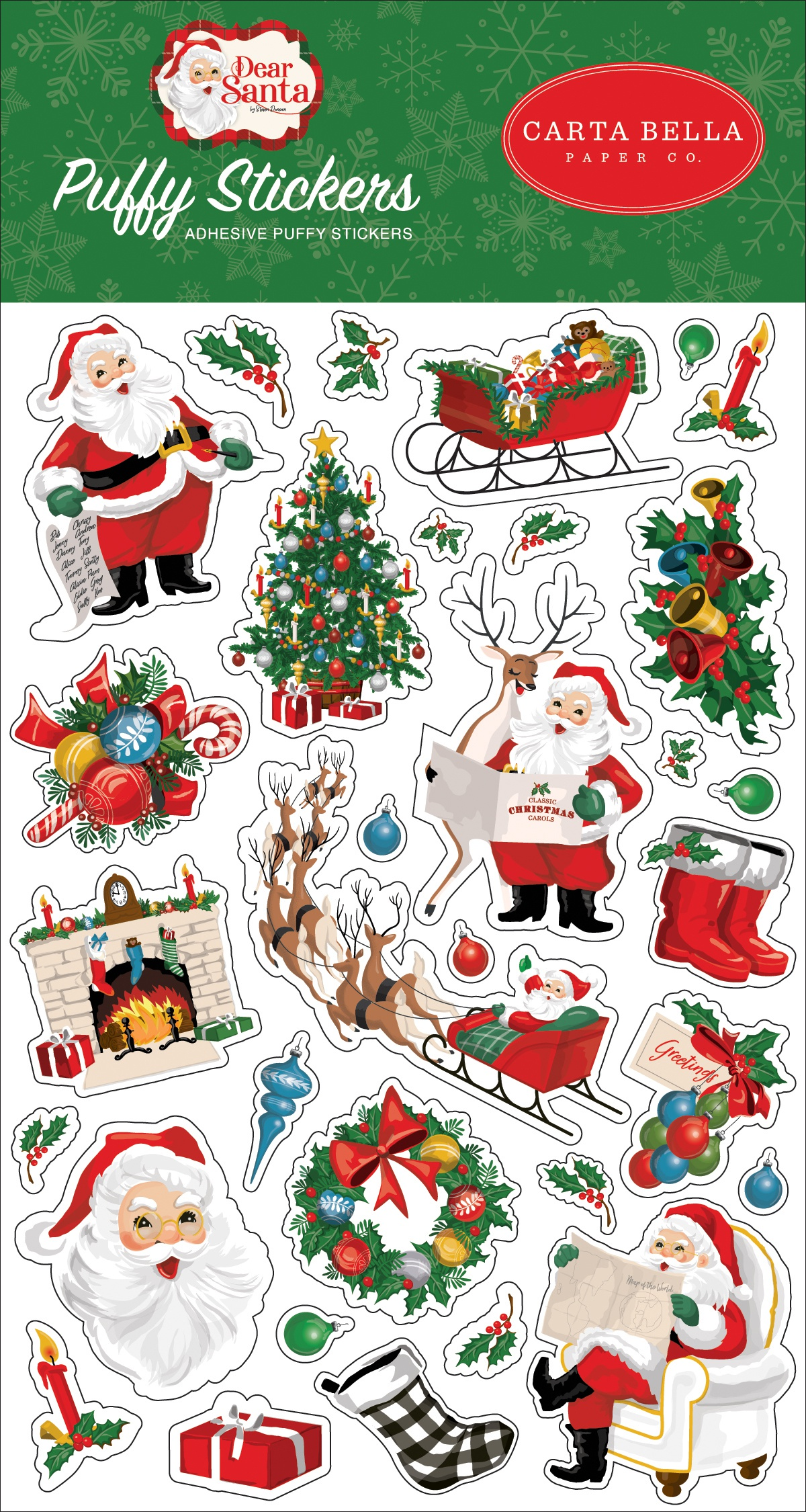 Dear Santa Puffy Stickers-