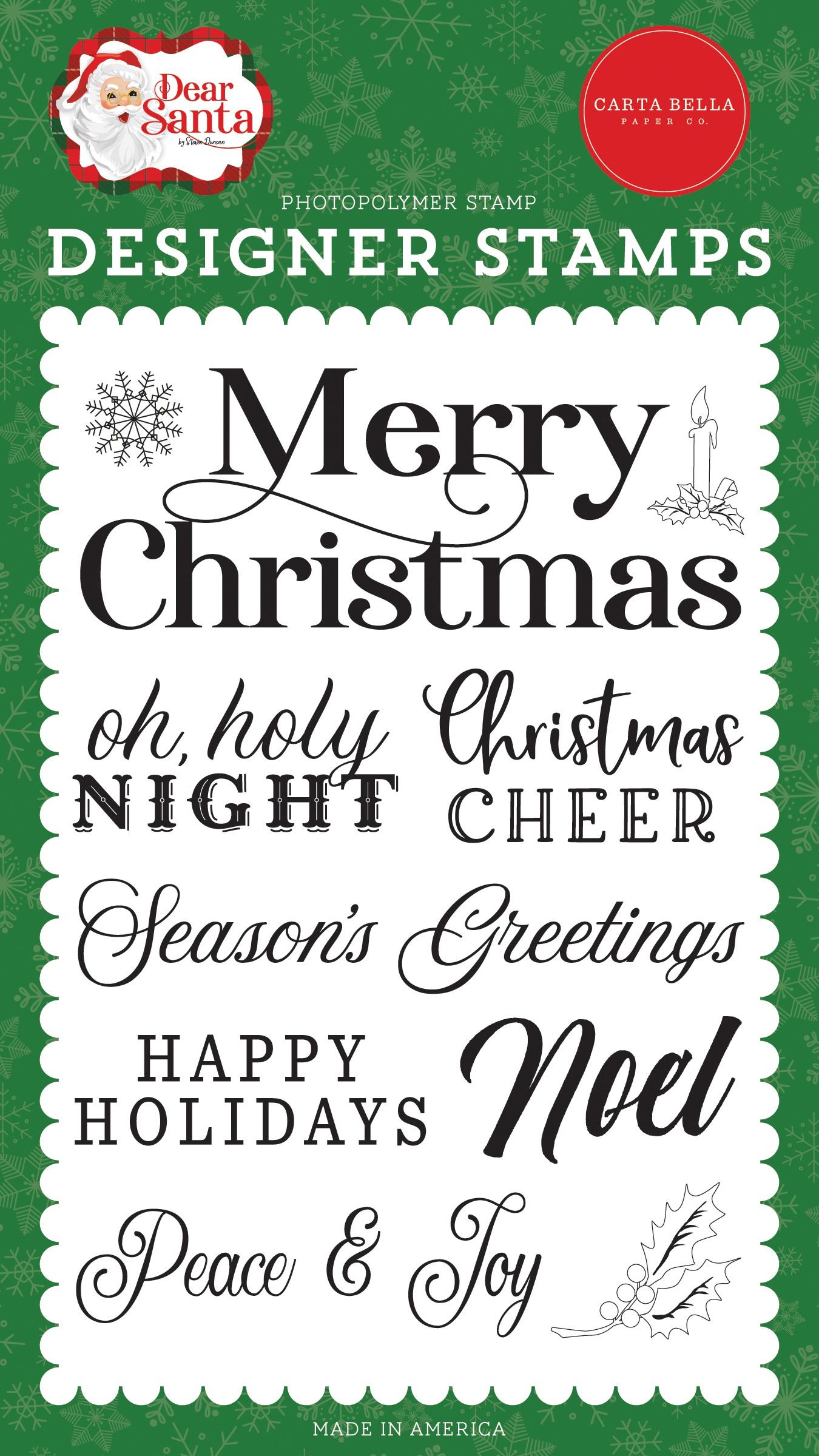 Carta Bella - Stamps - Merry Christmas Sentiment
