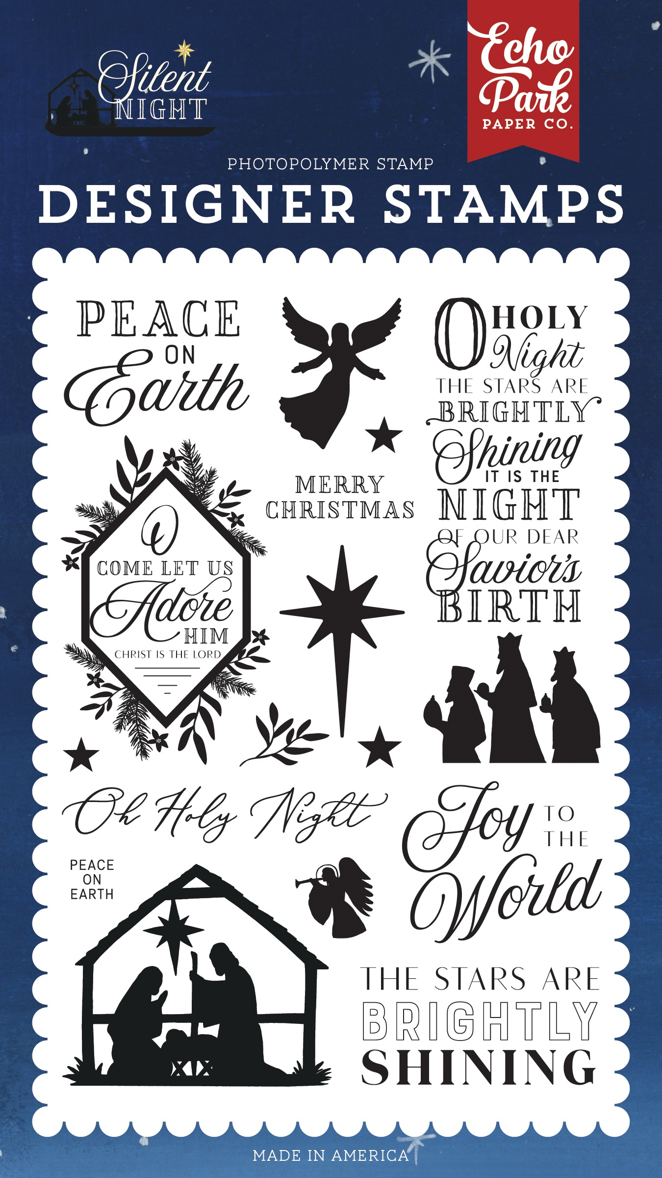 Echo Park Stamps-Peace On Earth