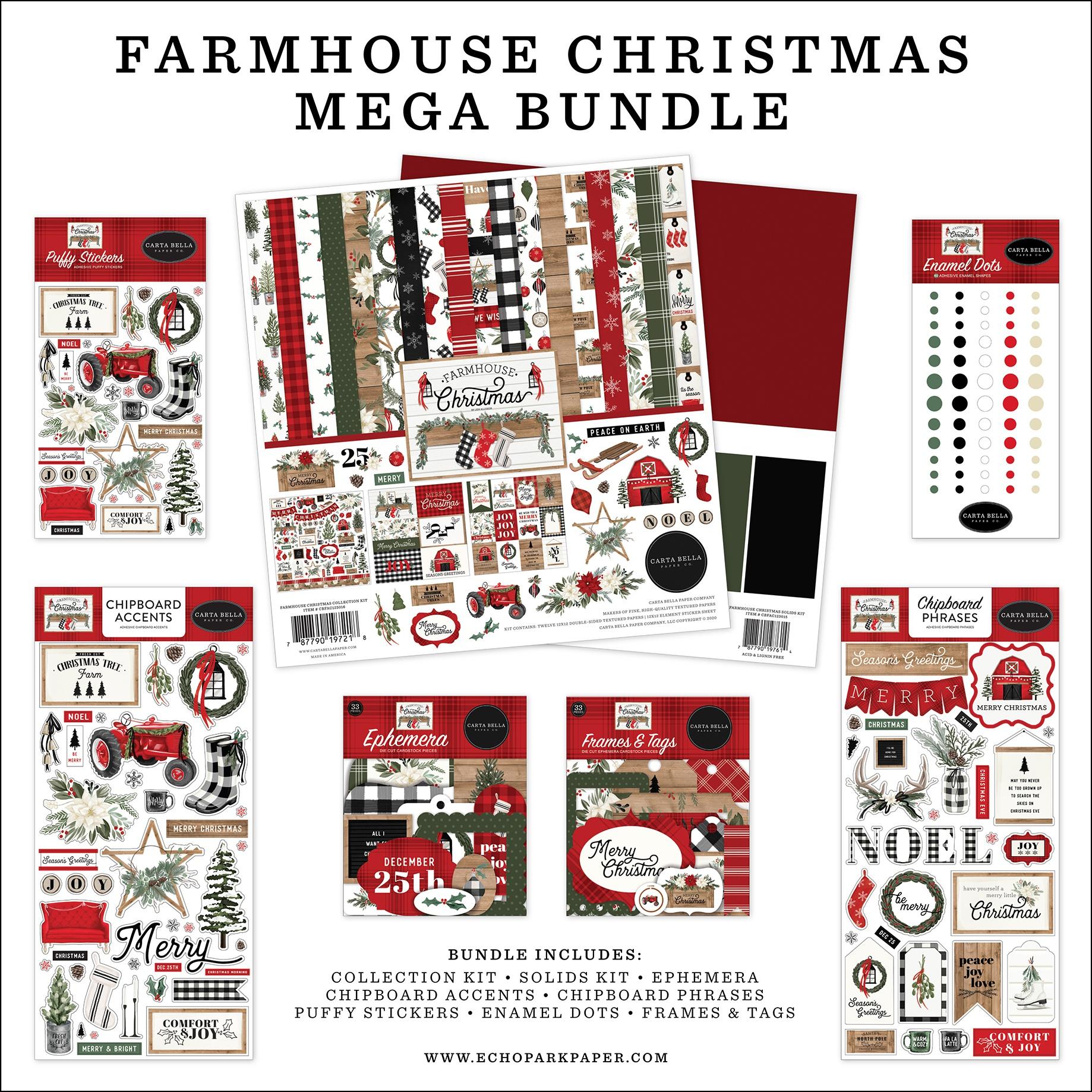 Farmhouse Christmas Mega Bundle Collection Kit