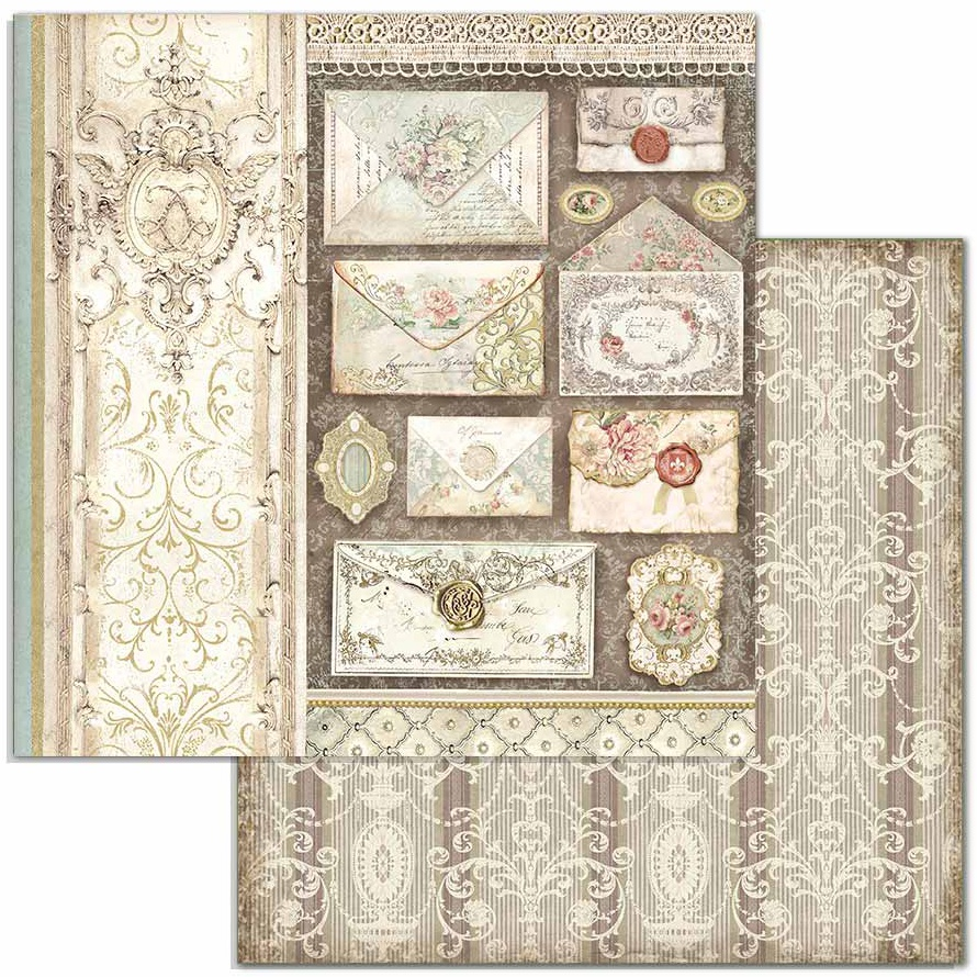Stamperia Double-Sided Cardstock 12X12-Letters, Princess