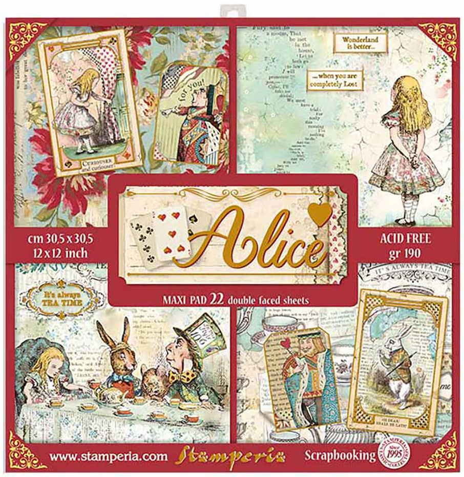 Alice Paper Pad with Gold Foil