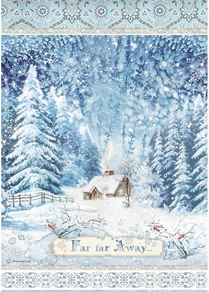 Stamperia Rice Paper Sheet A4-Far Far Away, Winter Tales