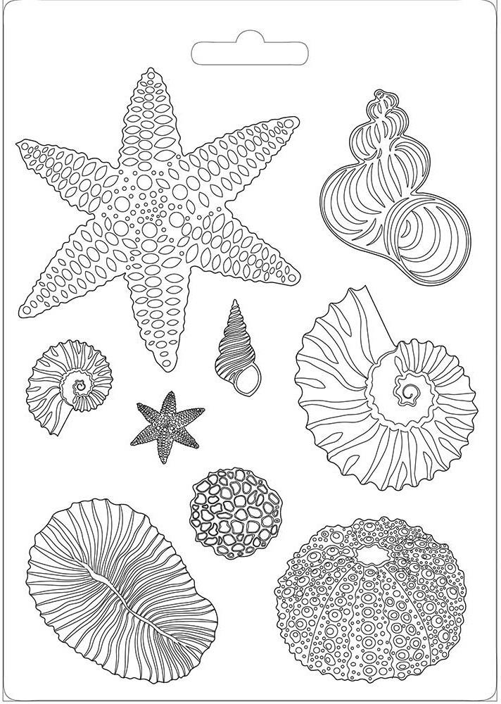 Stamperia Soft Maxi Mould 8.5X11.5-Shells, Arctic Antarctic