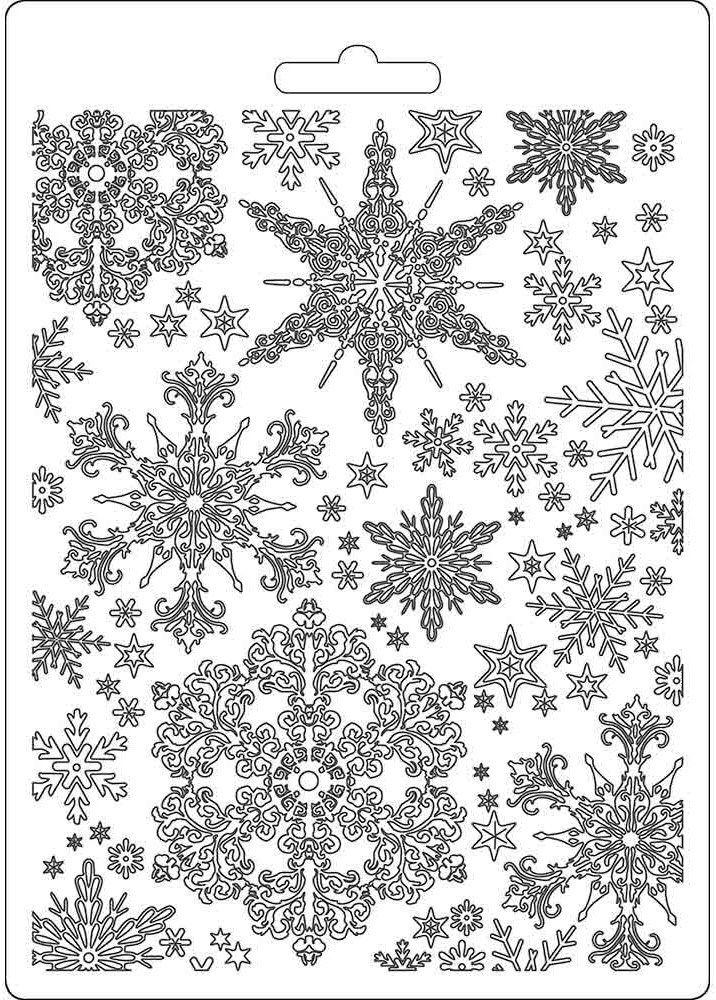 Stamperia Soft Maxi Mould A5-Snowflakes, Winter Tales