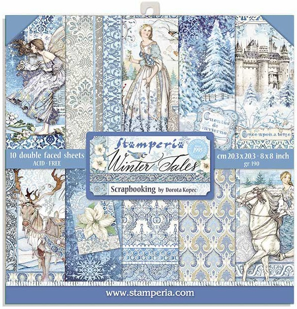Stamperia Double-Sided Paper Pad 8X8 10/Pkg-Winter Tales 10 Designs/1 Each