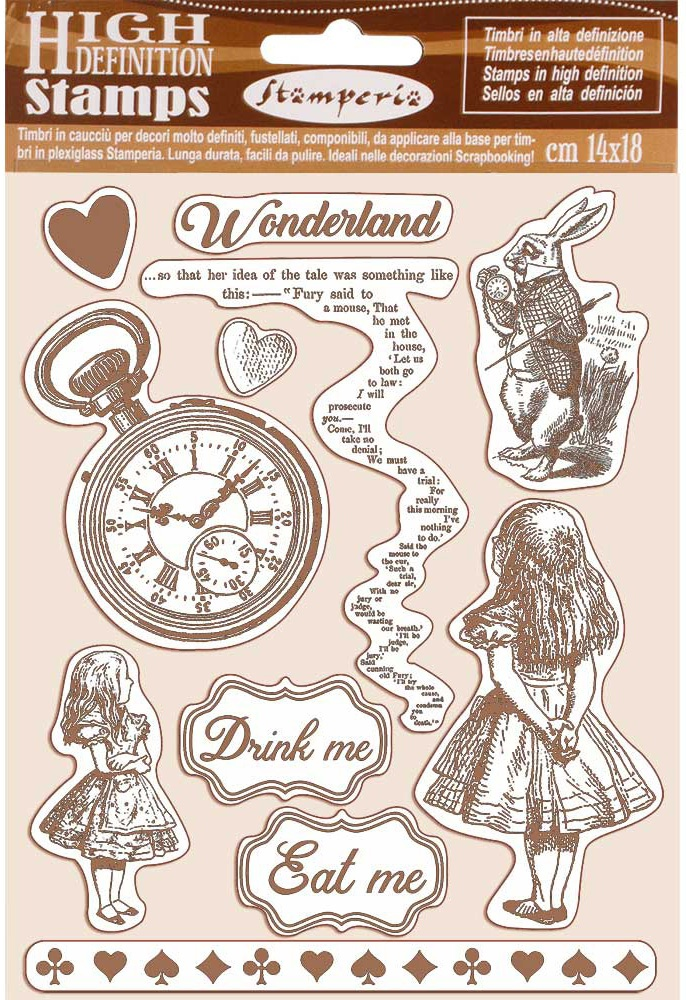 Stamperia Cling Rubber Stamp 5.5X7-Alice