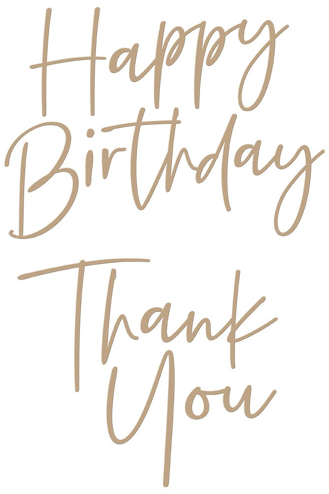 Spellbinders Hot Foil Plate - Thank You/Happy Birthday