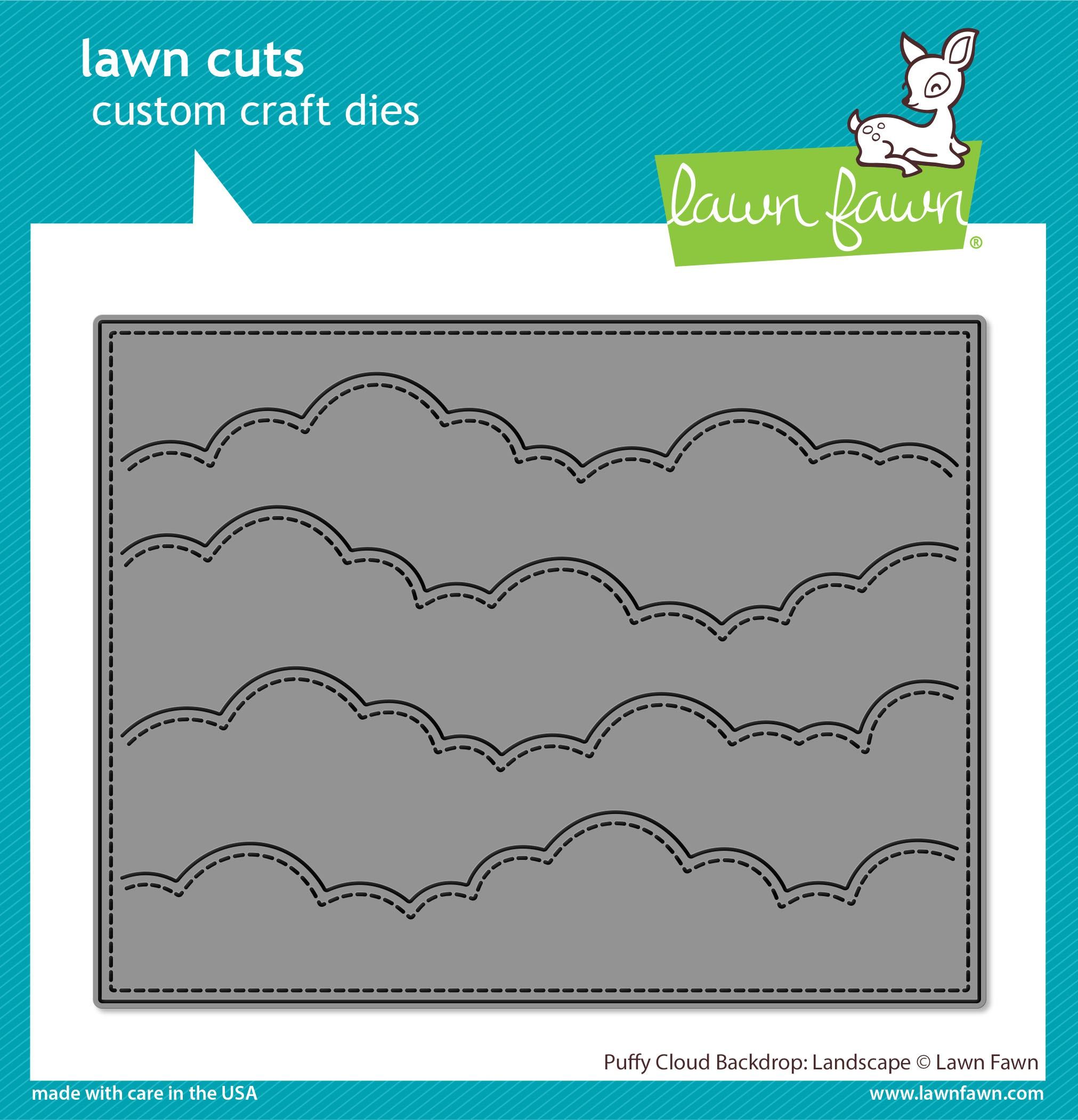 Lawn Cuts Custom Craft Die -Puffy Cloud Backdrop: Landscape