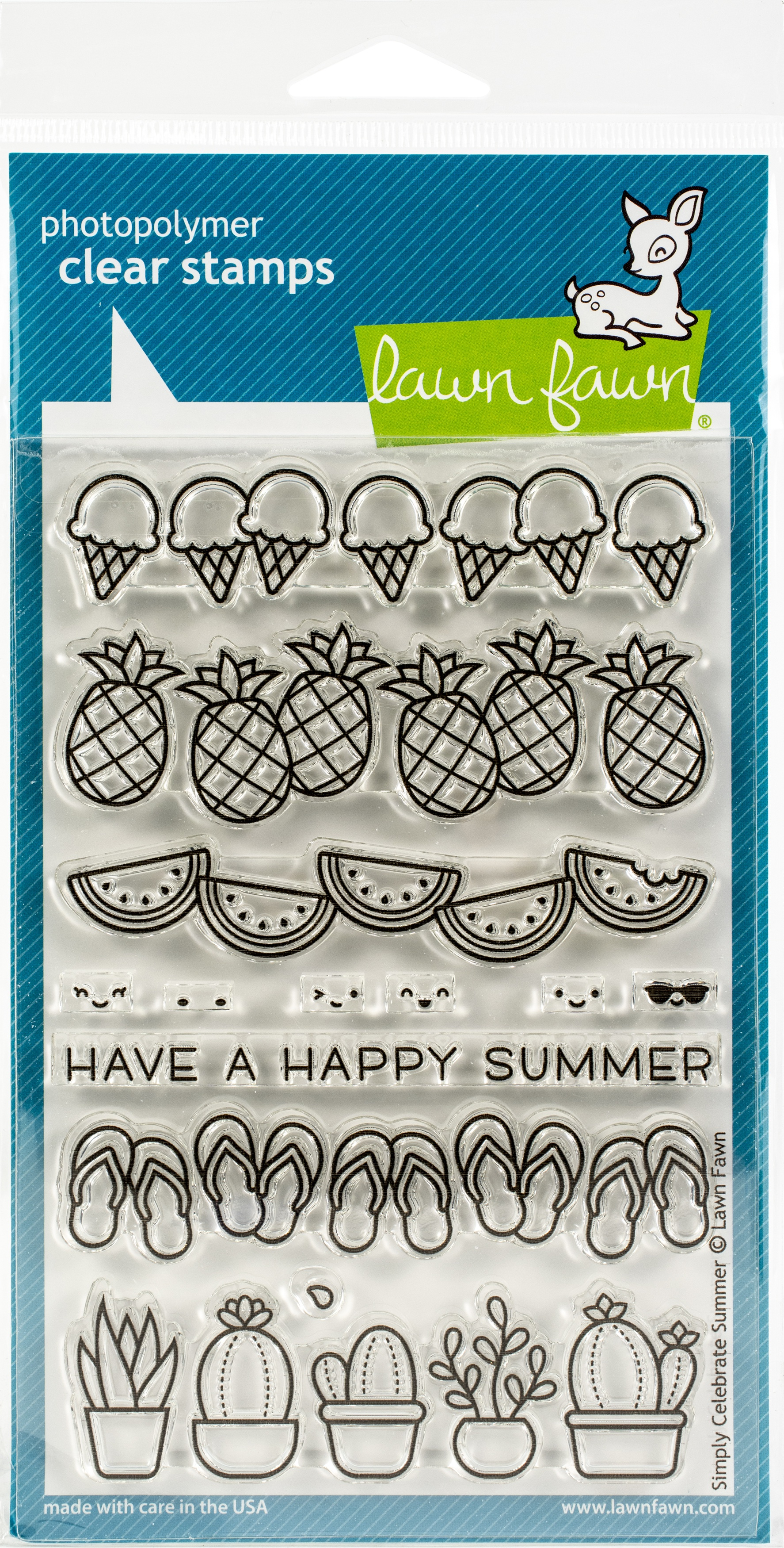 Lawn Fawn Clear Stamps 4X6-Simply Celebrate Summer