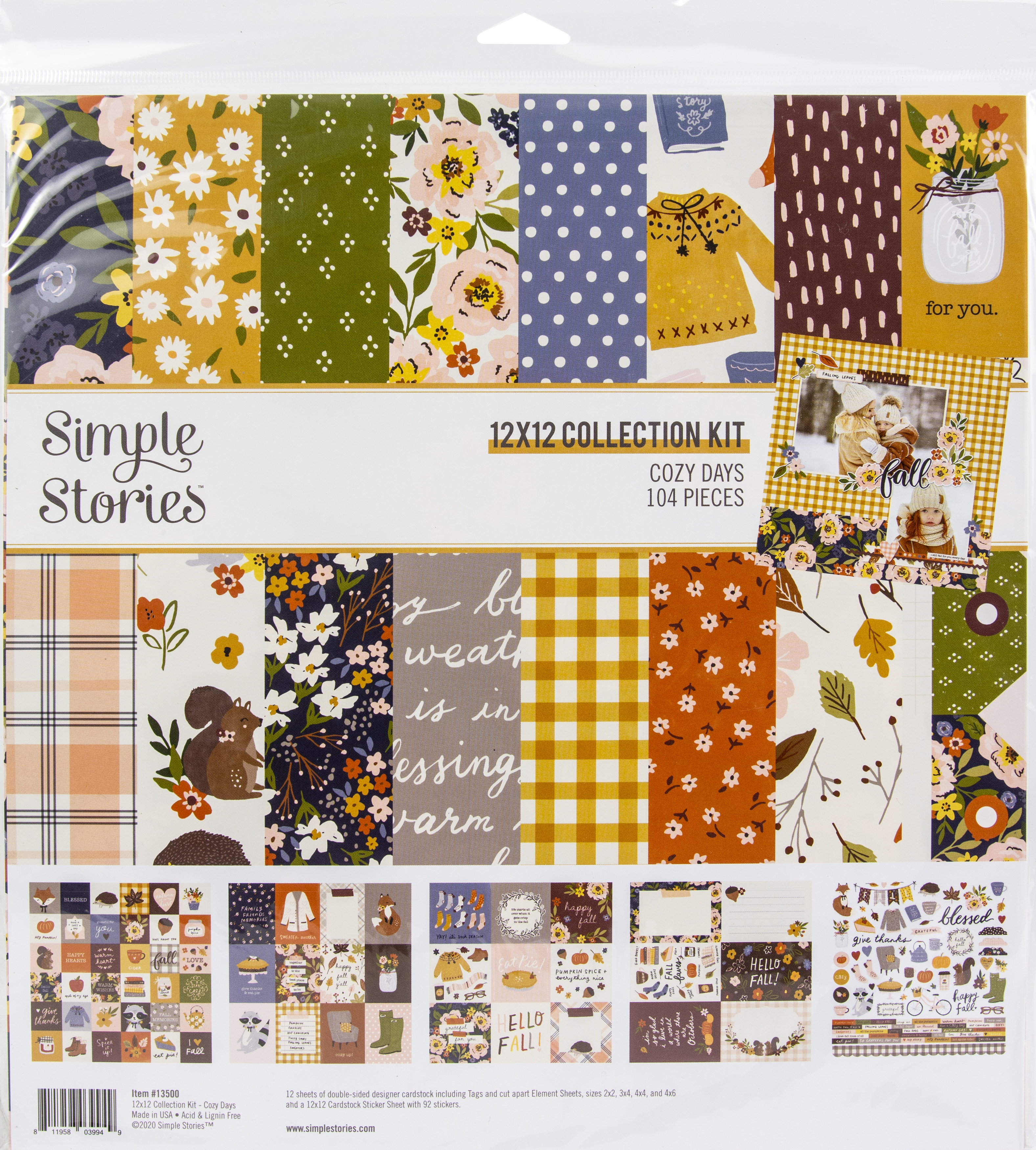 Simple Stories Collection Kit 12X12-Cozy Days