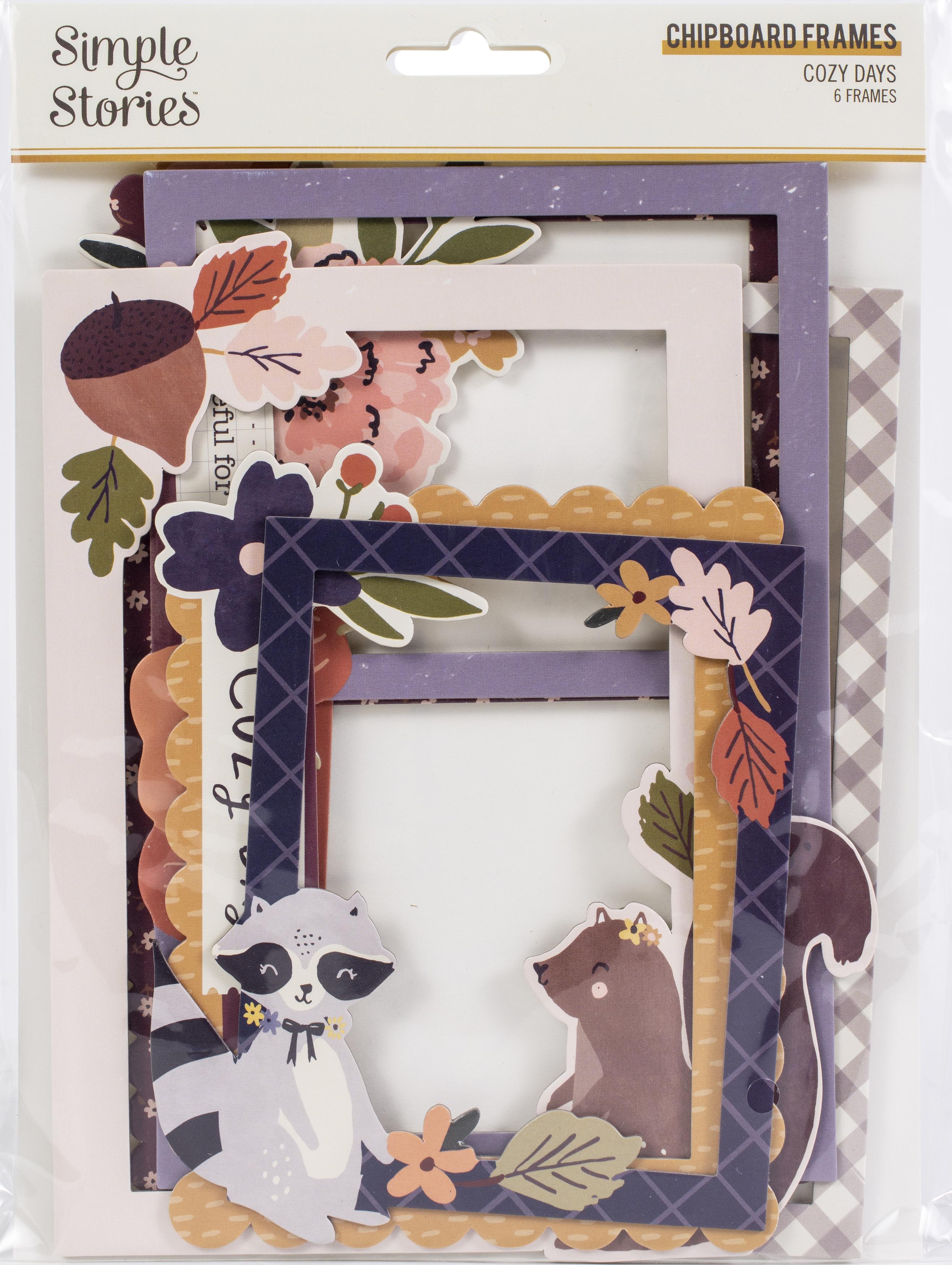 Cozy Days Layered Chipboard Frames Die-Cuts 6/Pkg-