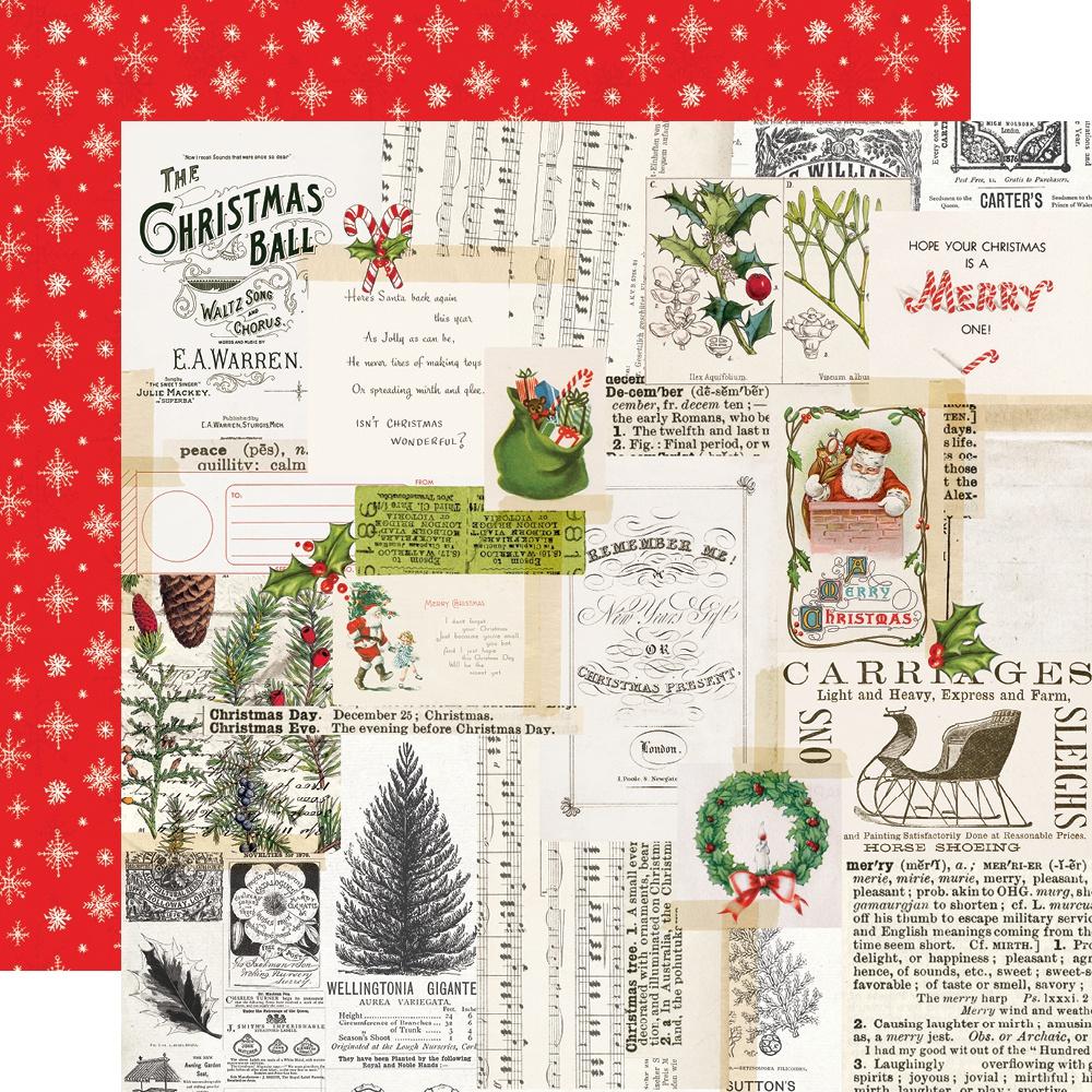Simple Vintage North Pole Merry Memories Paper