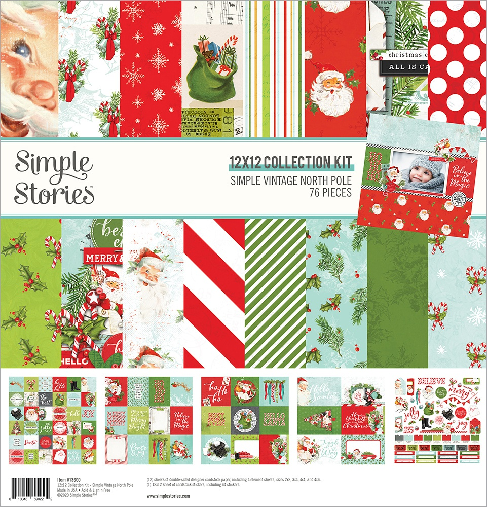 Simple Stories Simple Vintage North Pole Collection Kit 12x12