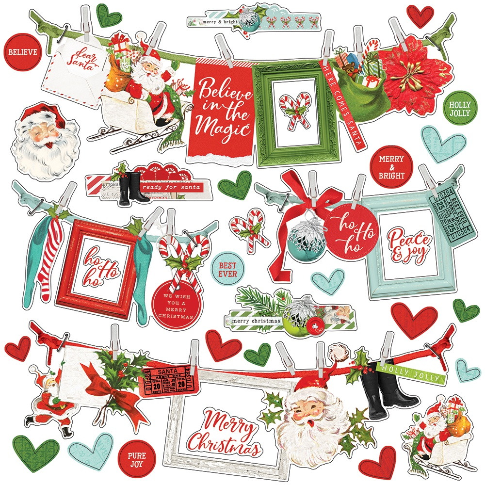 Simple Vintage North Pole Cardstock Stickers 12X12-Banners