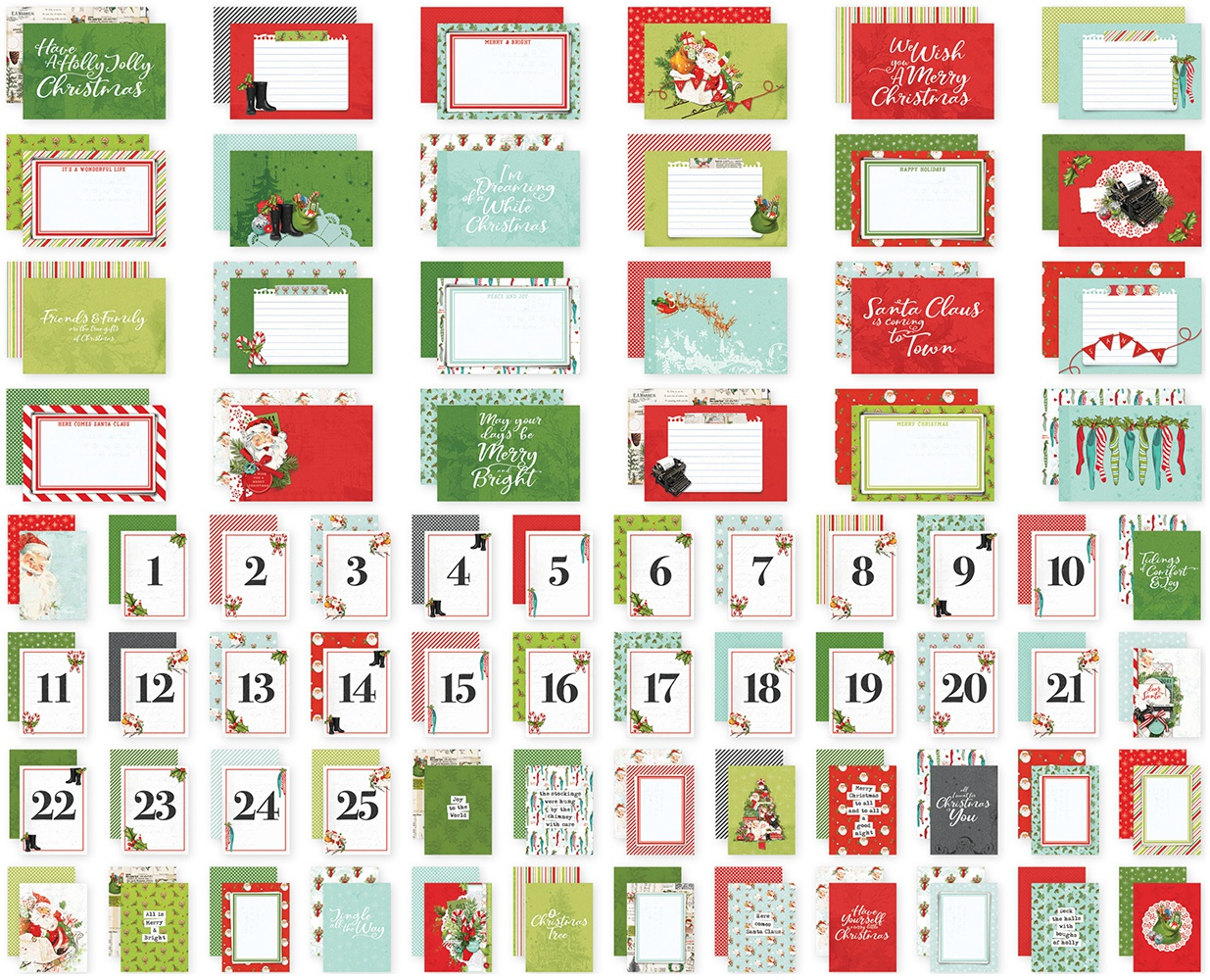 Simple Stories Sn@p! Card Pack 72/Pkg-Simple Vintage North Pole