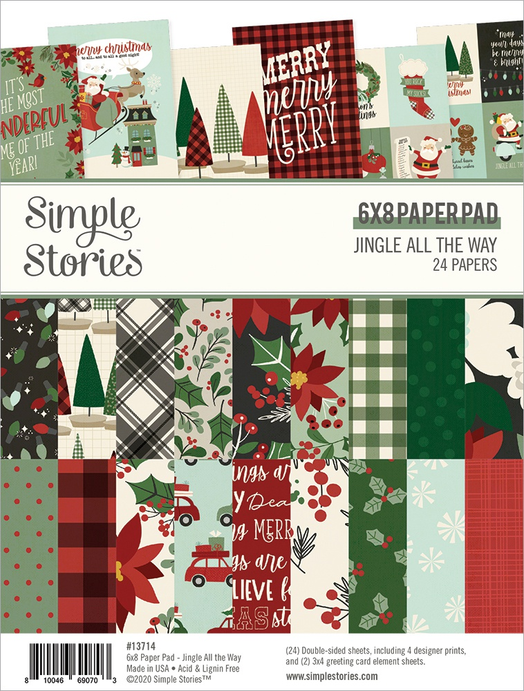 Simple Stories Double-Sided Paper Pad 6X8 24/Pkg-Jingle All The Way