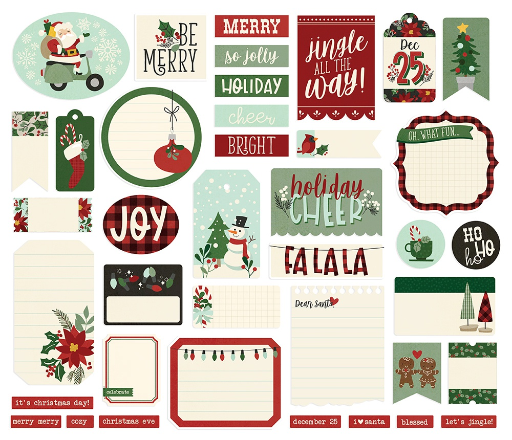 Jingle All The Way Bits & Pieces Die-Cuts 39/Pkg-Journal