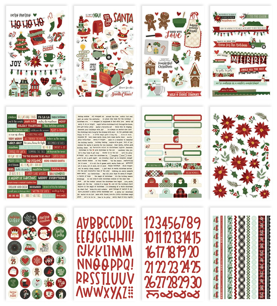 Simple Stories Sticker Book 12/Sheets-Jingle All The Way, 432/Pkg