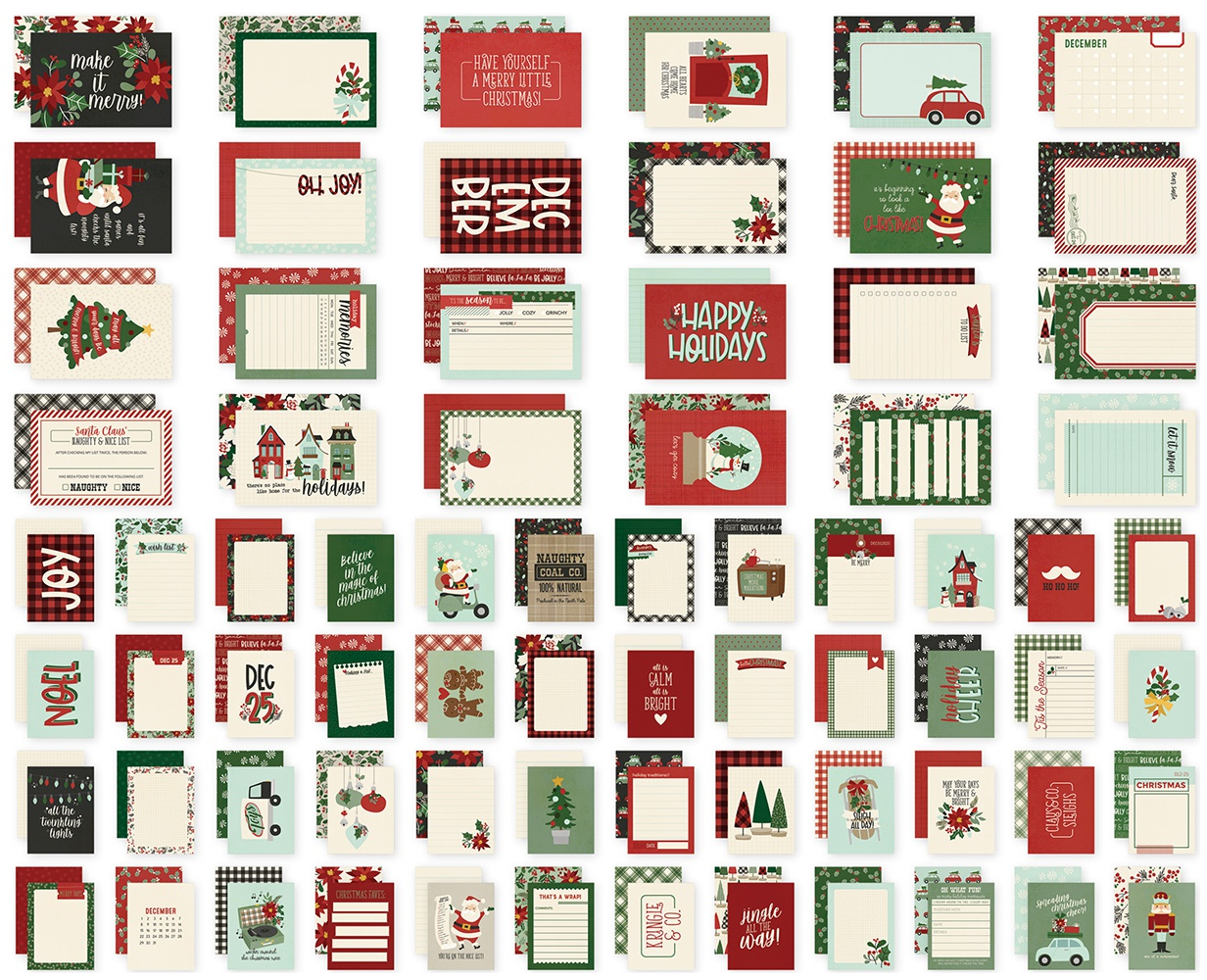 Simple Stories Sn@p! Card Pack 72/Pkg-Jingle All The Way