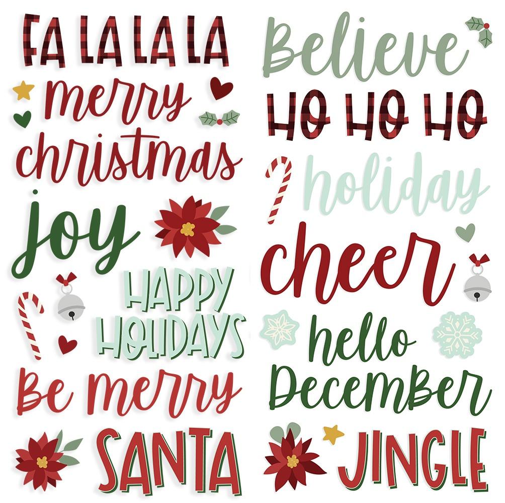 Jingle All The Way Foam Stickers 37/Pkg-
