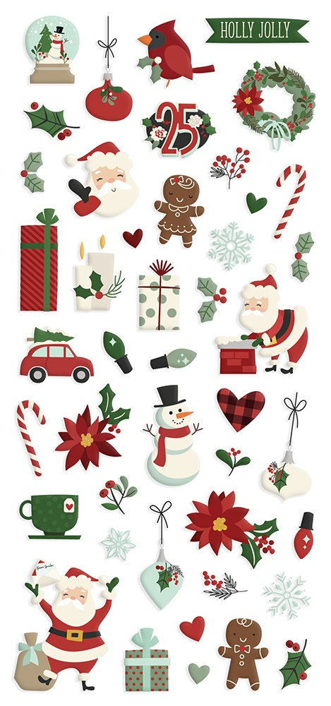 Jingle All The Way Puffy Stickers 4X6 2/Pkg-