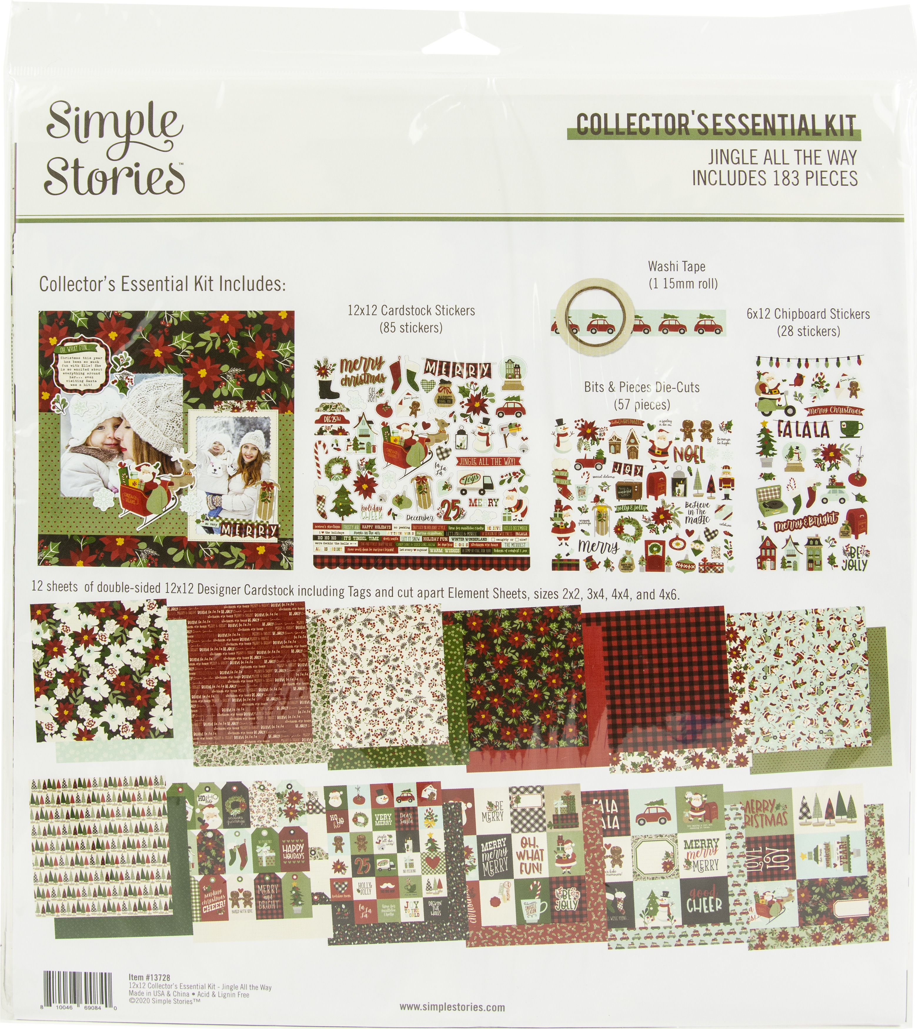 Simple Stories Collector's Essential Kit 12X12-Jingle All The Way
