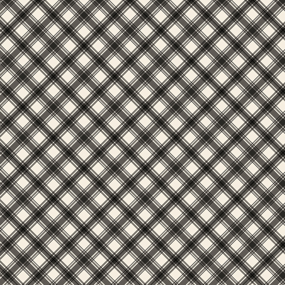 Jingle All The Way Double-Sided Cardstock 12X12-Coal Plaid/Gingham