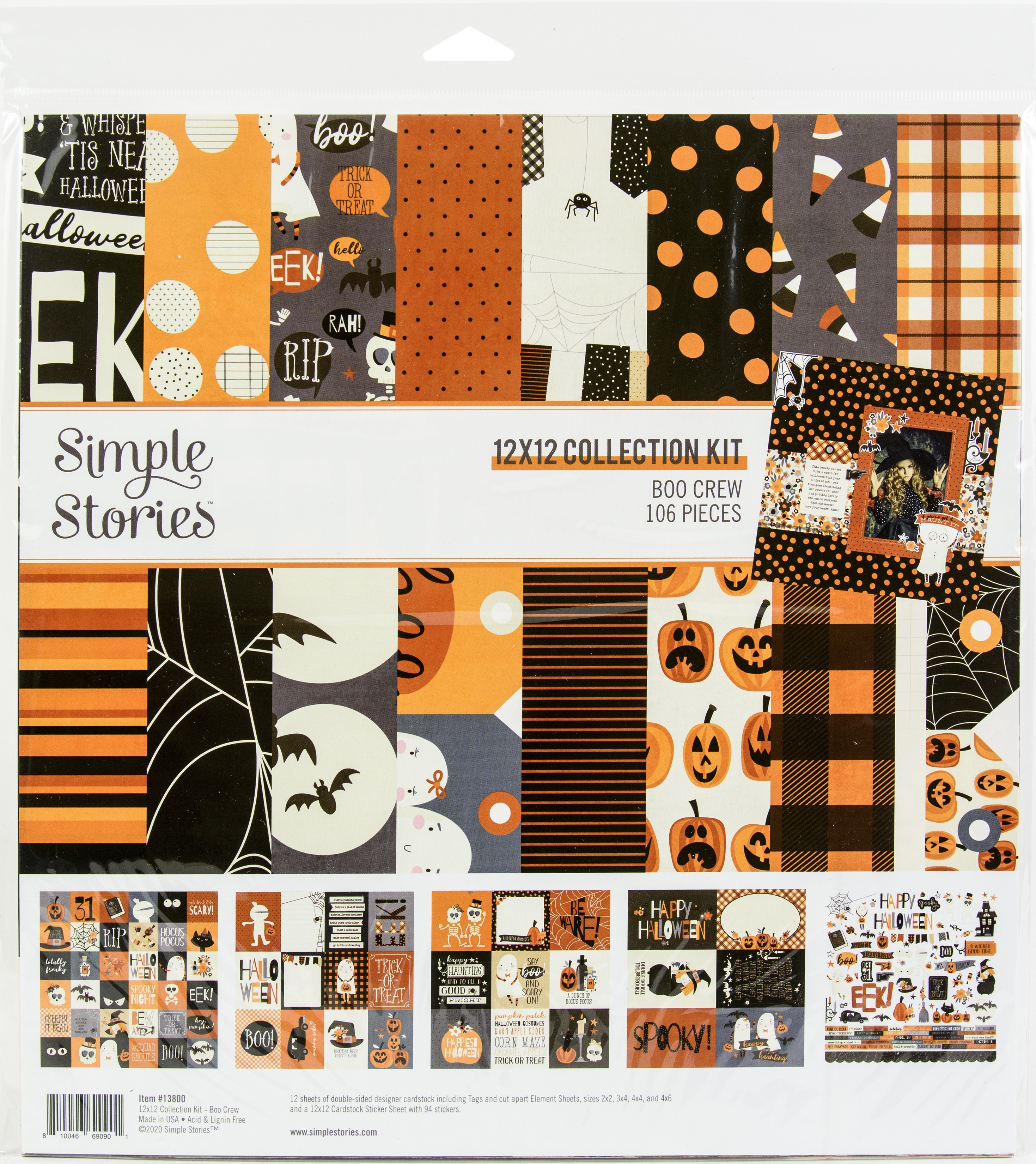 Simple Stories Collection Kit 12X12-Boo Crew