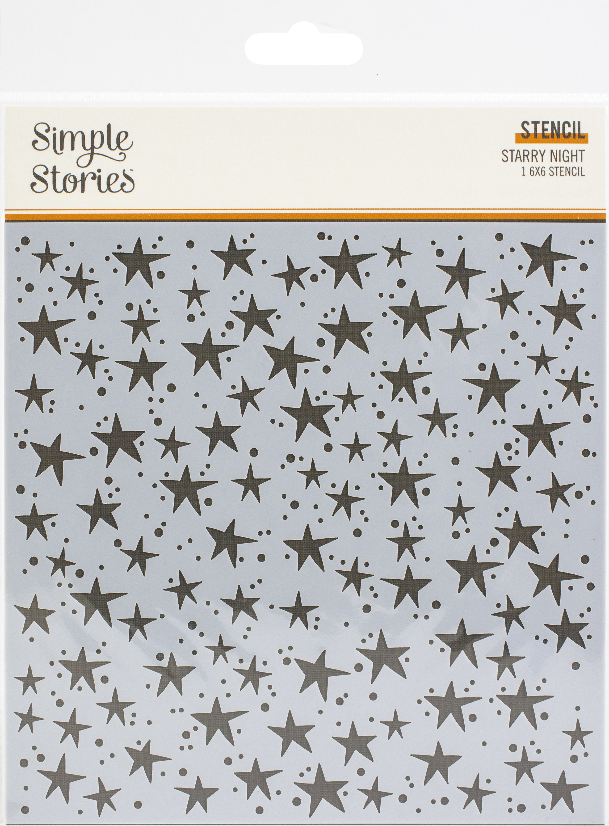 Simple Stories Boo Crew Stencil 6X6-Starry Night