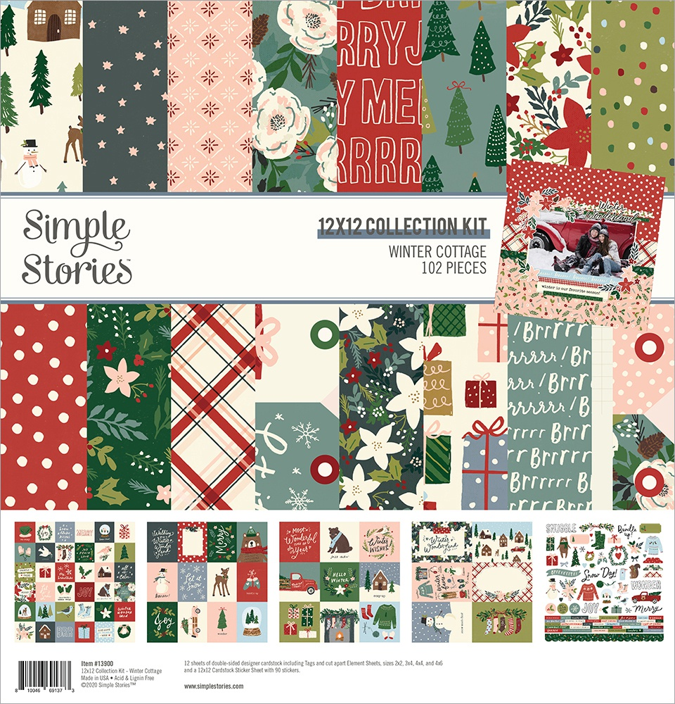 Simple Stories Collection Kit 12X12-Winter Cottage