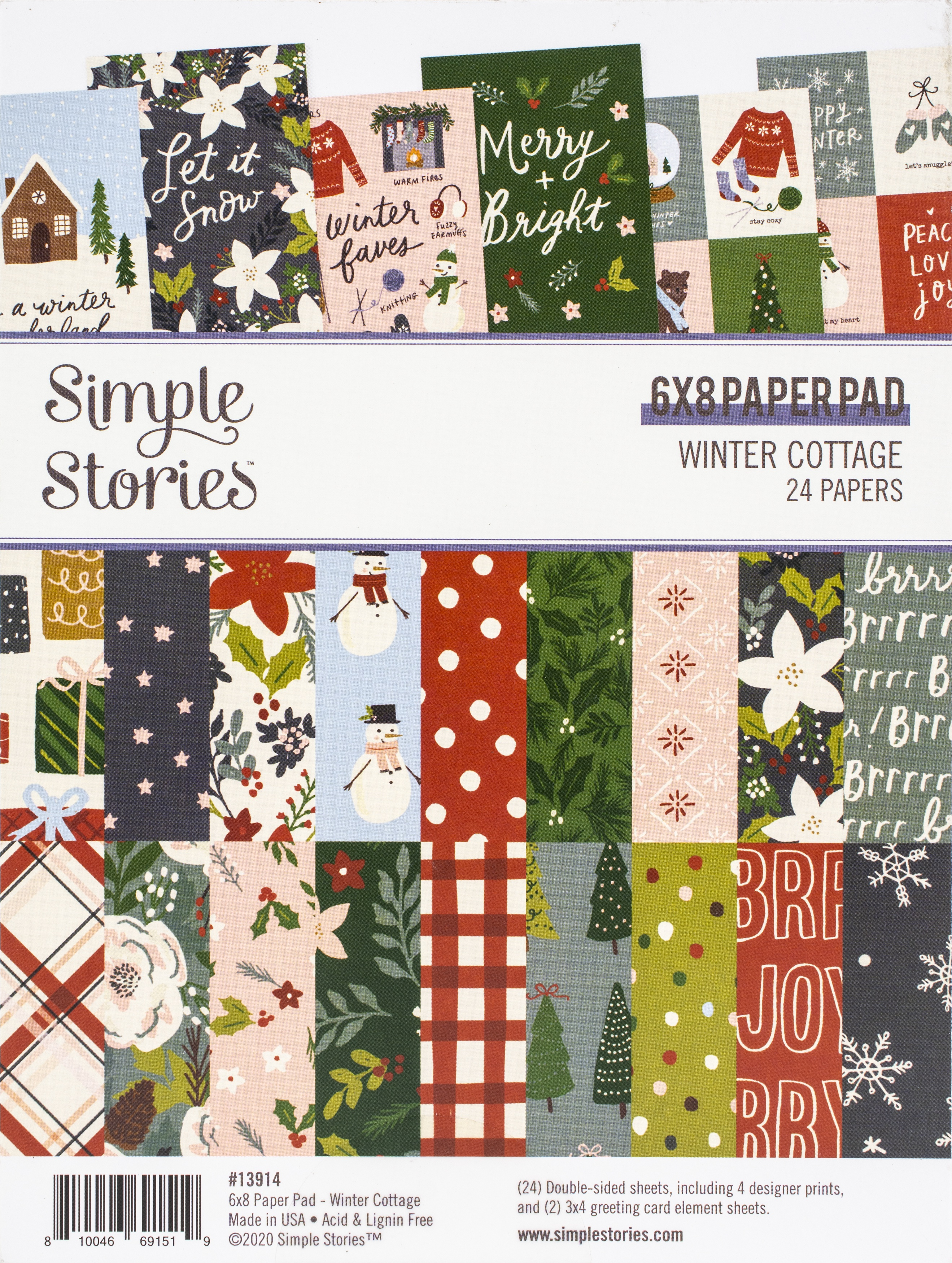 Simple Stories Winter Cottage - 6x8 Paper Pad
