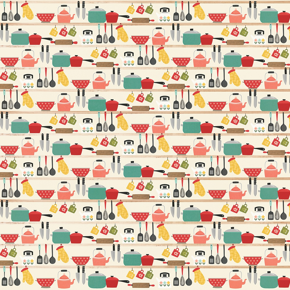 Apron Strings Double-Sided Cardstock 12X12-Lick The Bowl