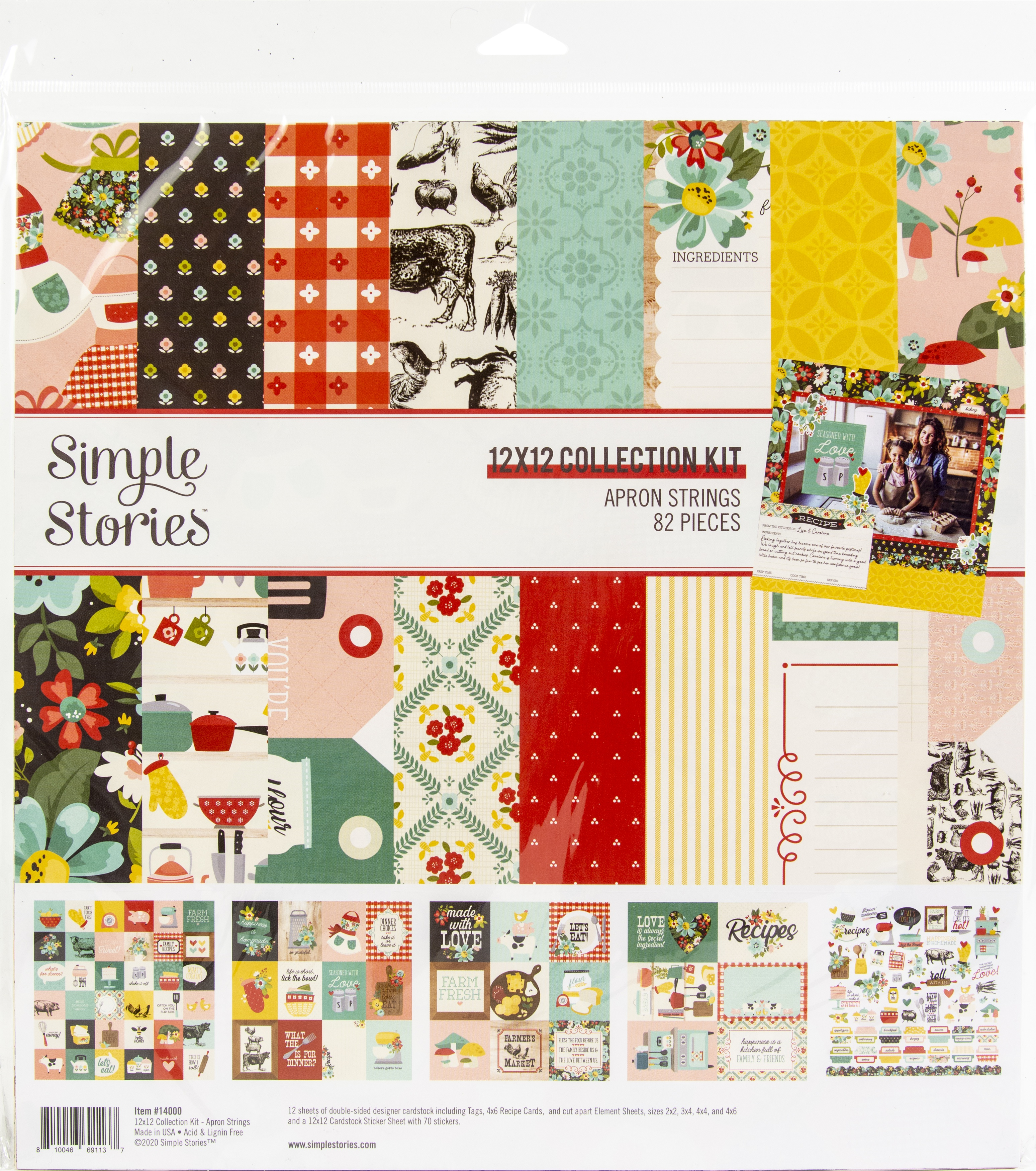 Simple Stories Collection Kit 12X12-Apron Strings