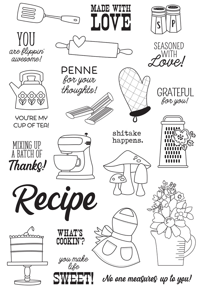 Apron Strings Photopolymer Clear Stamps-