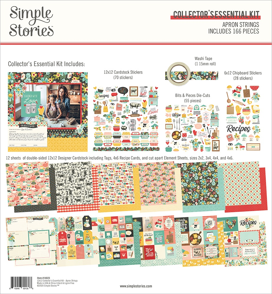 Simple Stories Collector's Essential Kit 12X12-Apron Strings