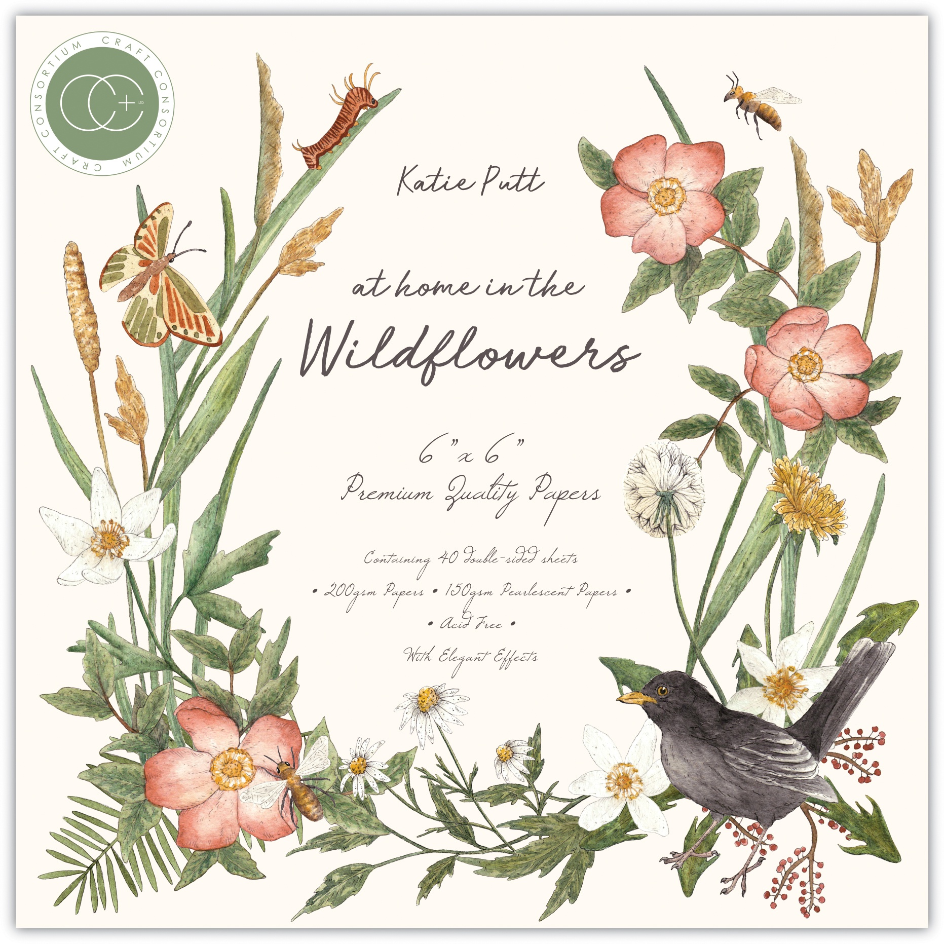 Craft Consortium Double-Sided Paper Pad 6X6 40/Pkg-At Home In The Wildflowers