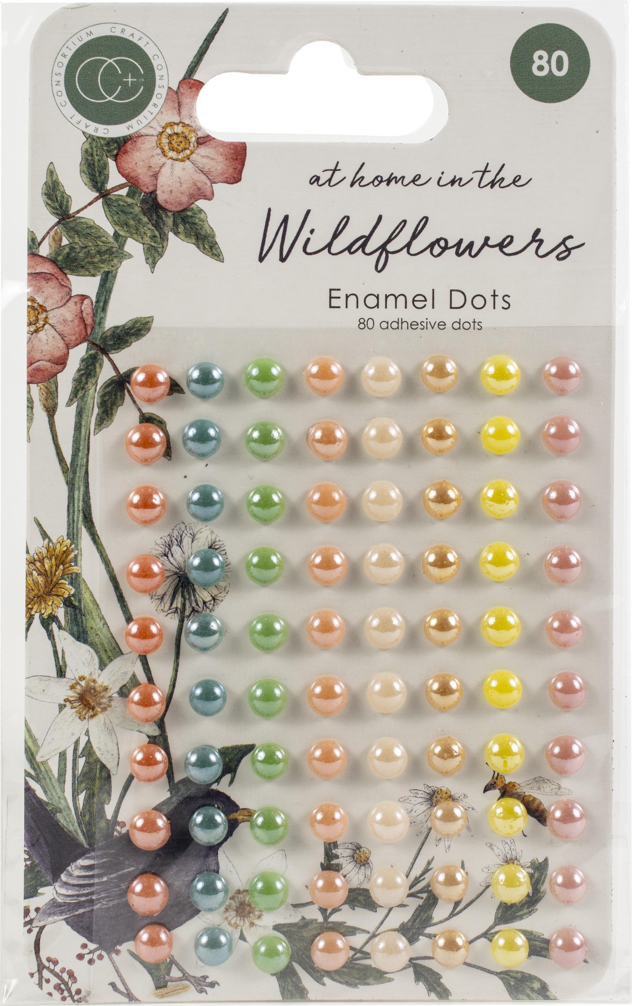 Craft Consortium Adhesive Enamel Dots 80/Pkg-Assorted Colors