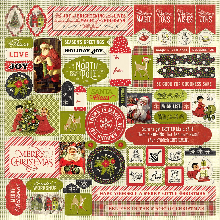 A Magical Christmas Cardstock Stickers 12X12-Details
