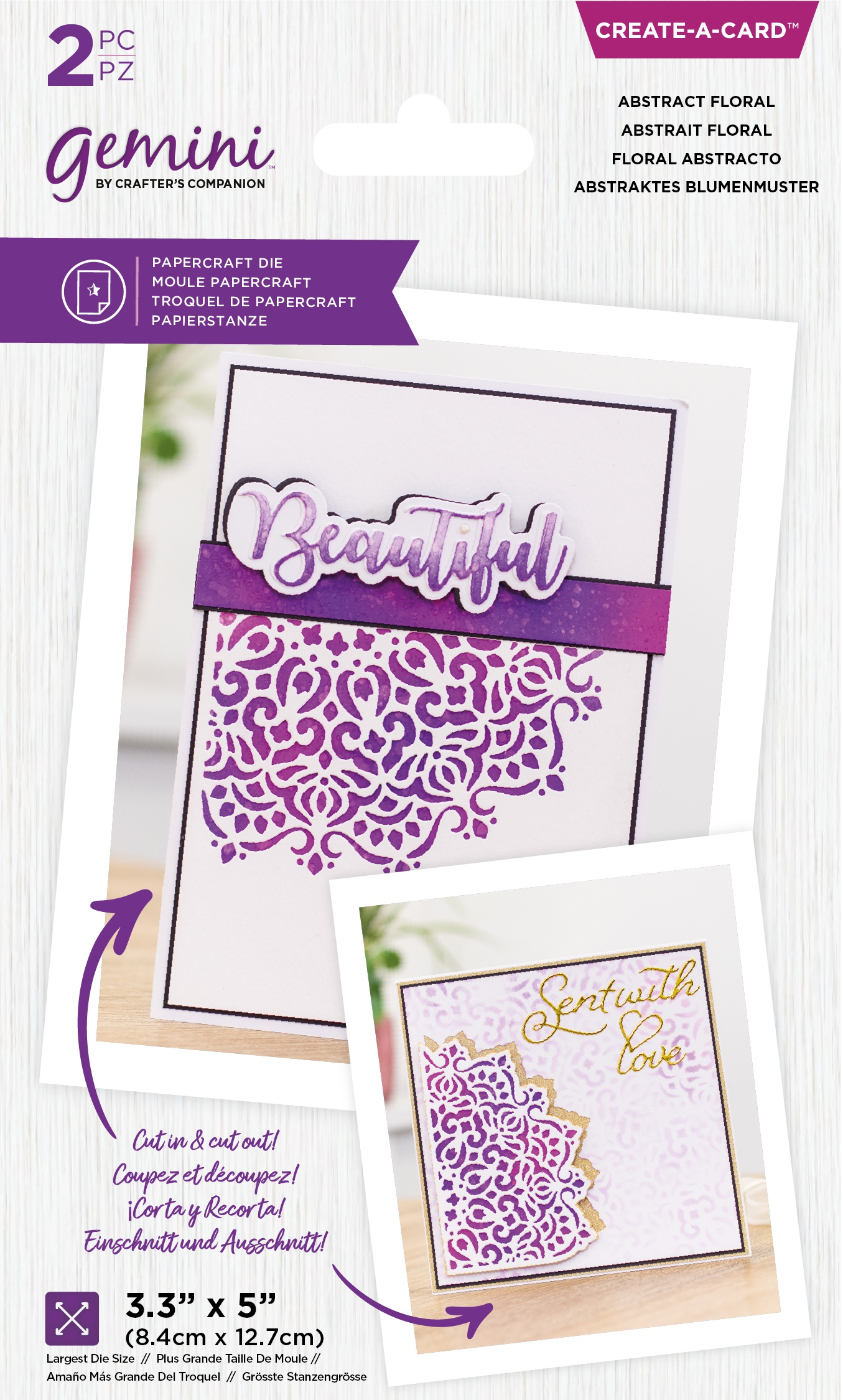 Crafter's Companion Gemini Create-A-Card Die-Abstract Floral