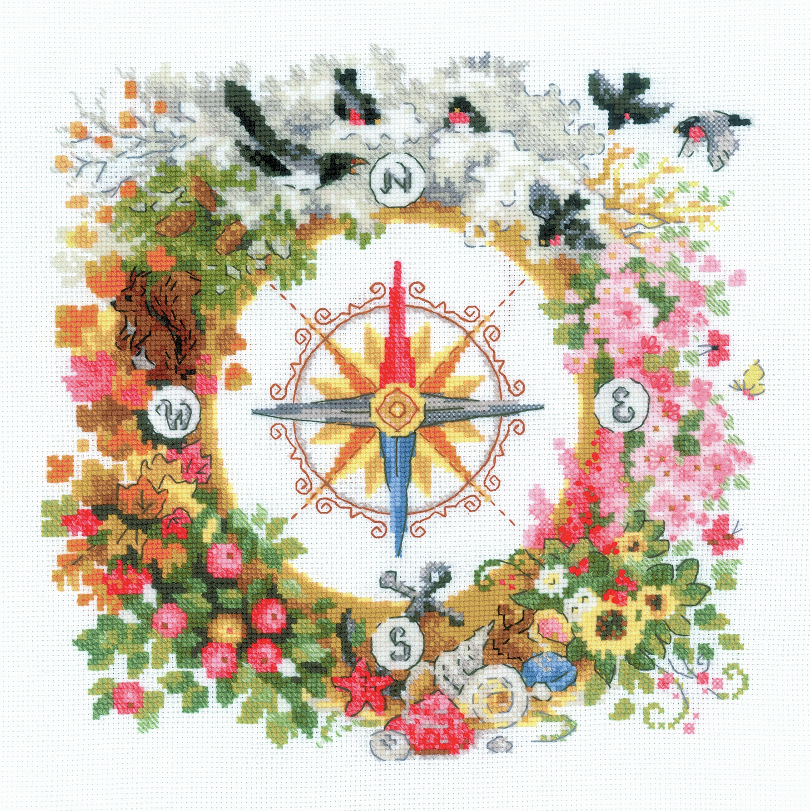 RIOLIS Counted Cross Stitch Kit 11.75X11.75-Compass (14 Count)