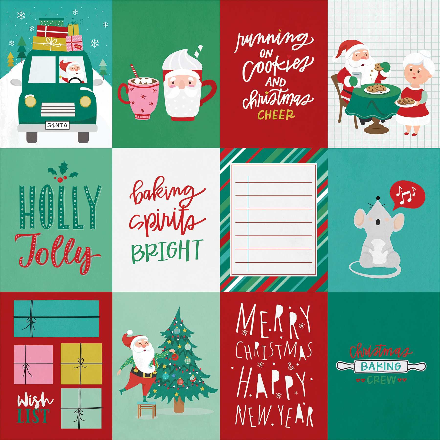 Not A Creature Was Stirring Double-Sided Cardstock 12X12-Hot Chocolate 6 STYLES