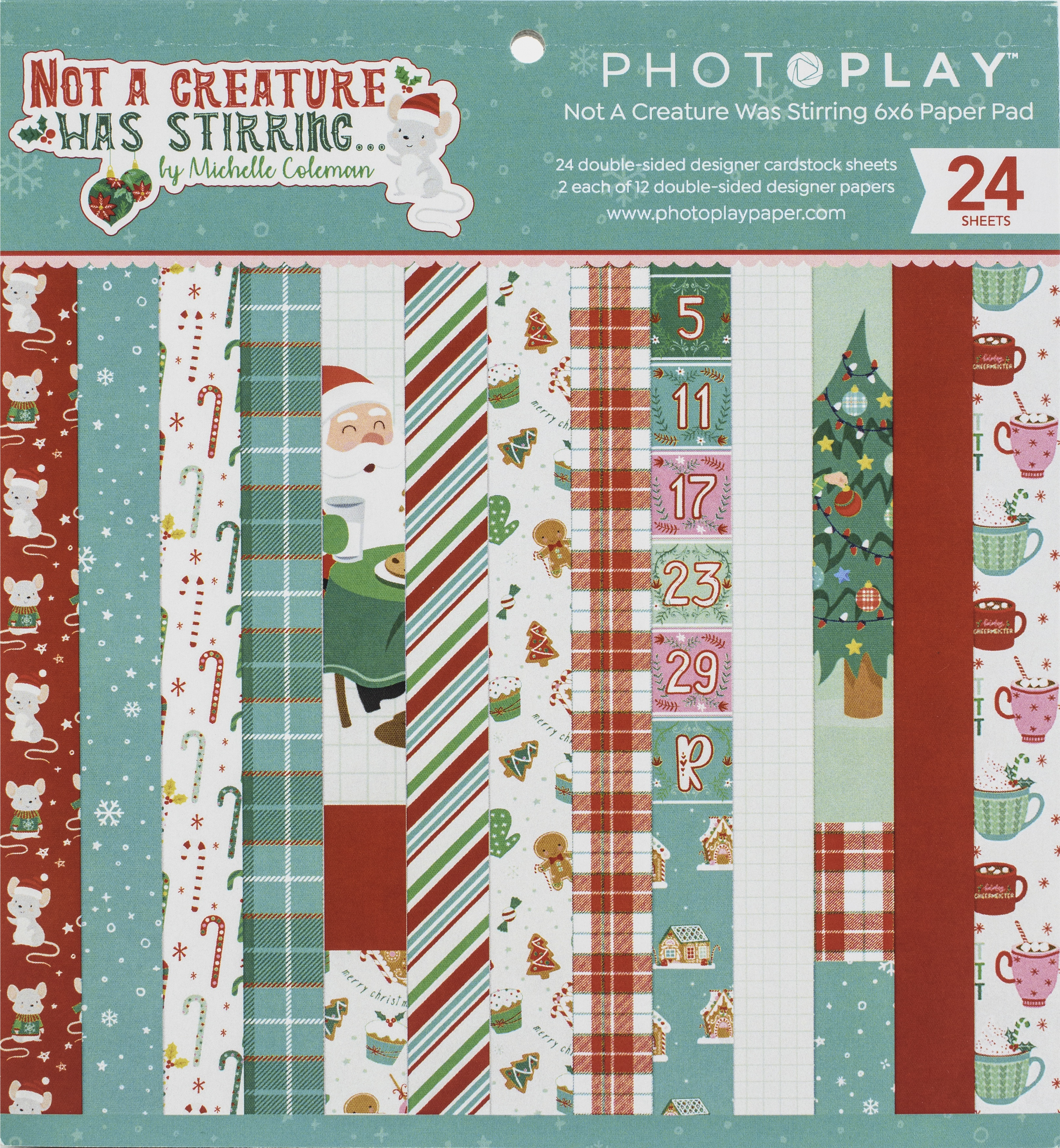PhotoPlay Not a Creature Was Stirring Paper Pad 6x6