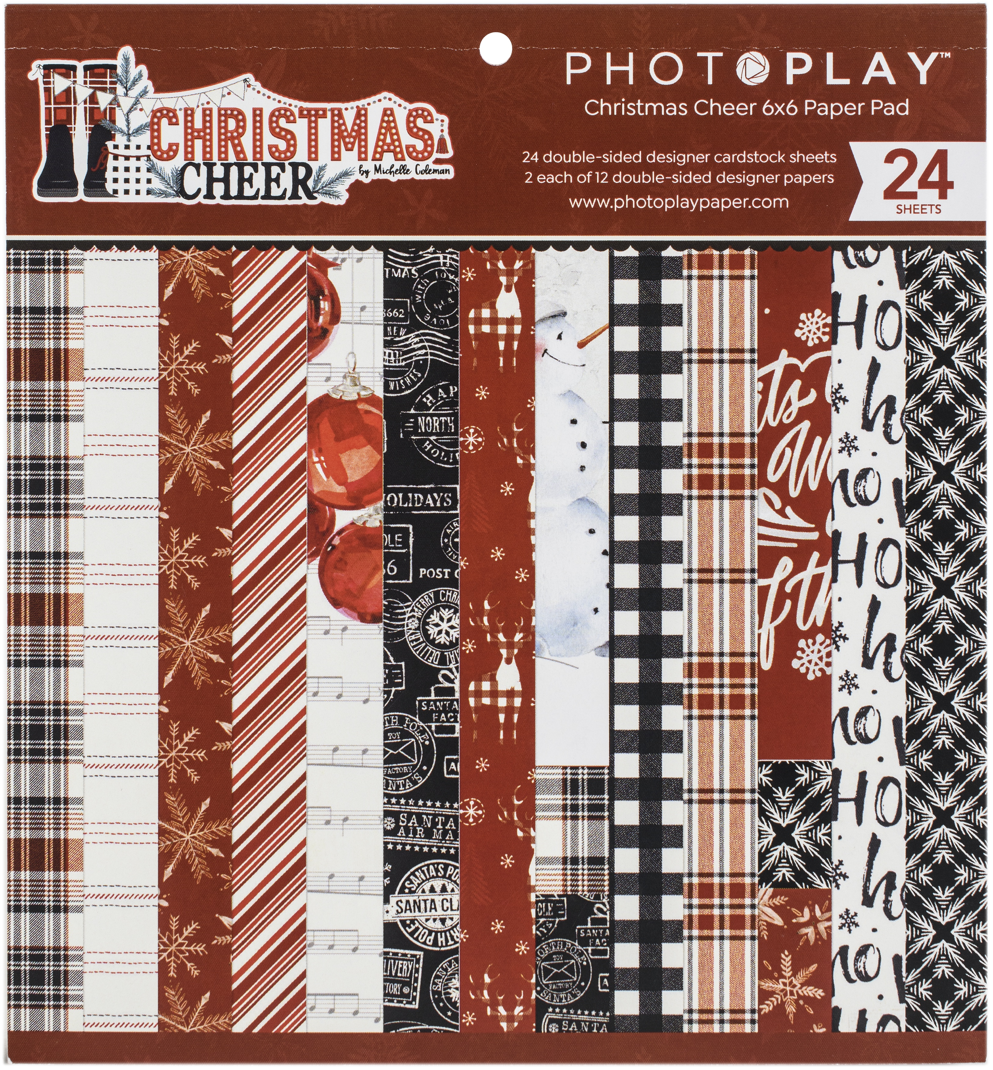 PhotoPlay Christmas Cheer Paper Pad 6x6