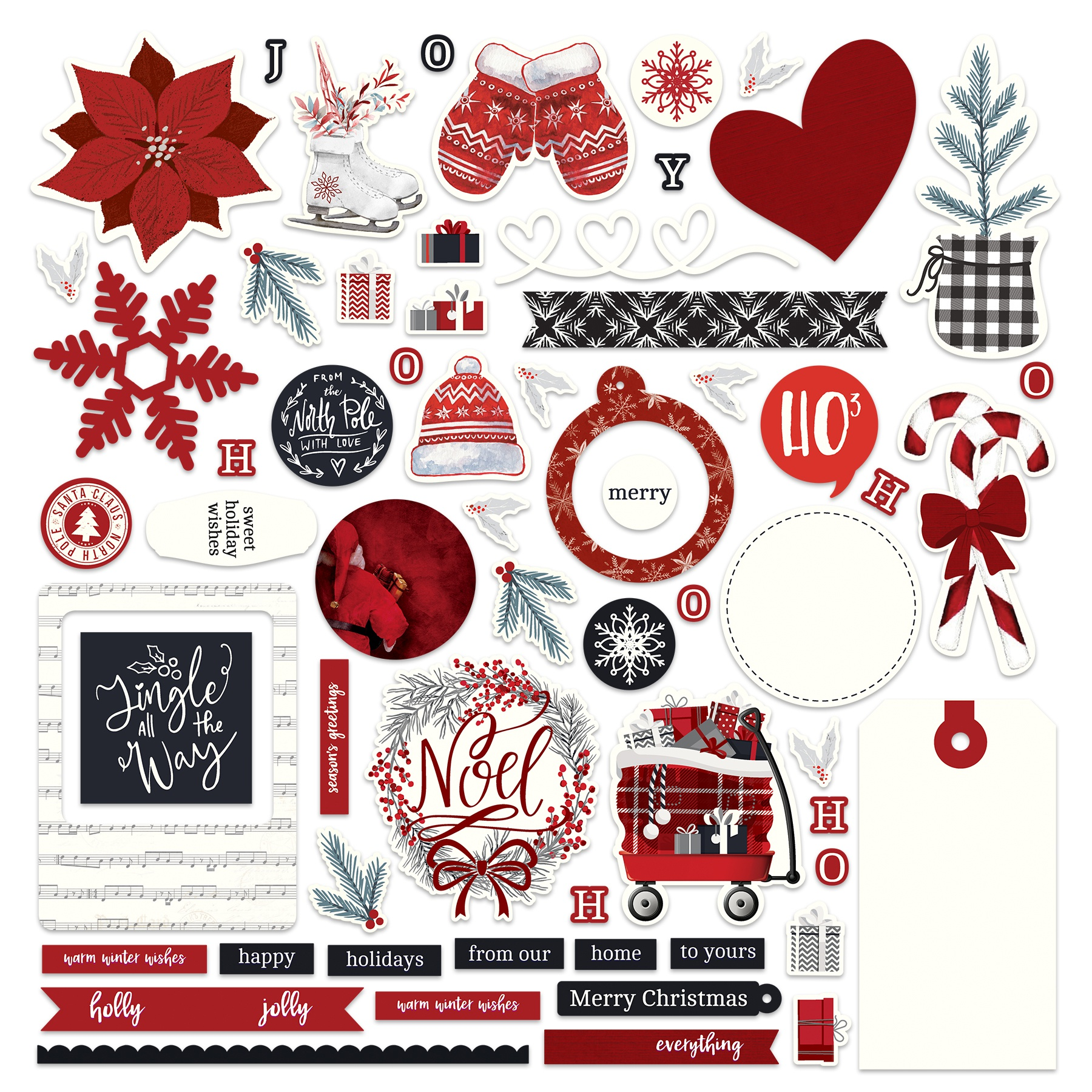 PhotoPlay Collection Card Kit Stickers-Christmas Cheer