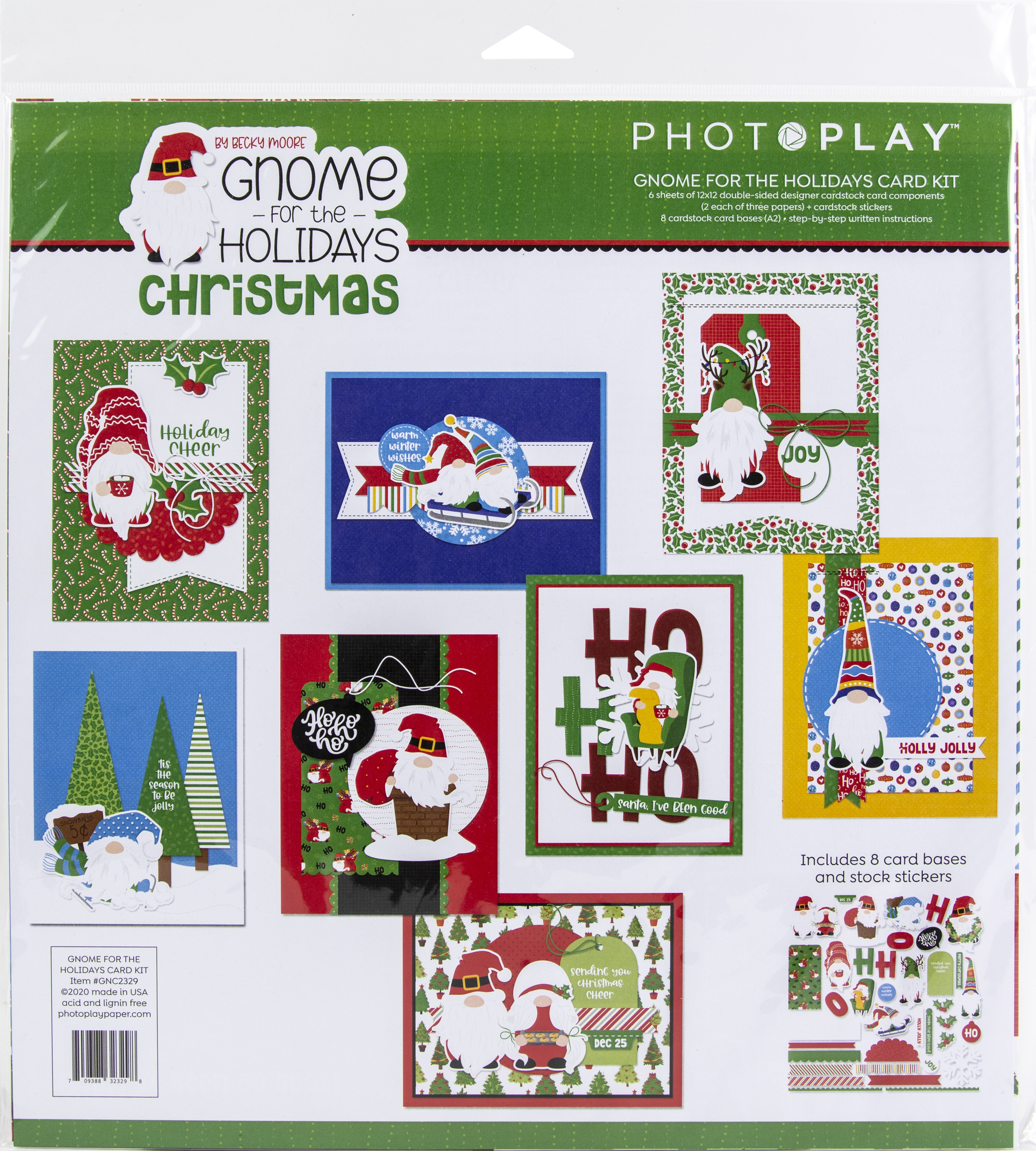 PhotoPlay Collection Card Kit-Gnome For Christmas