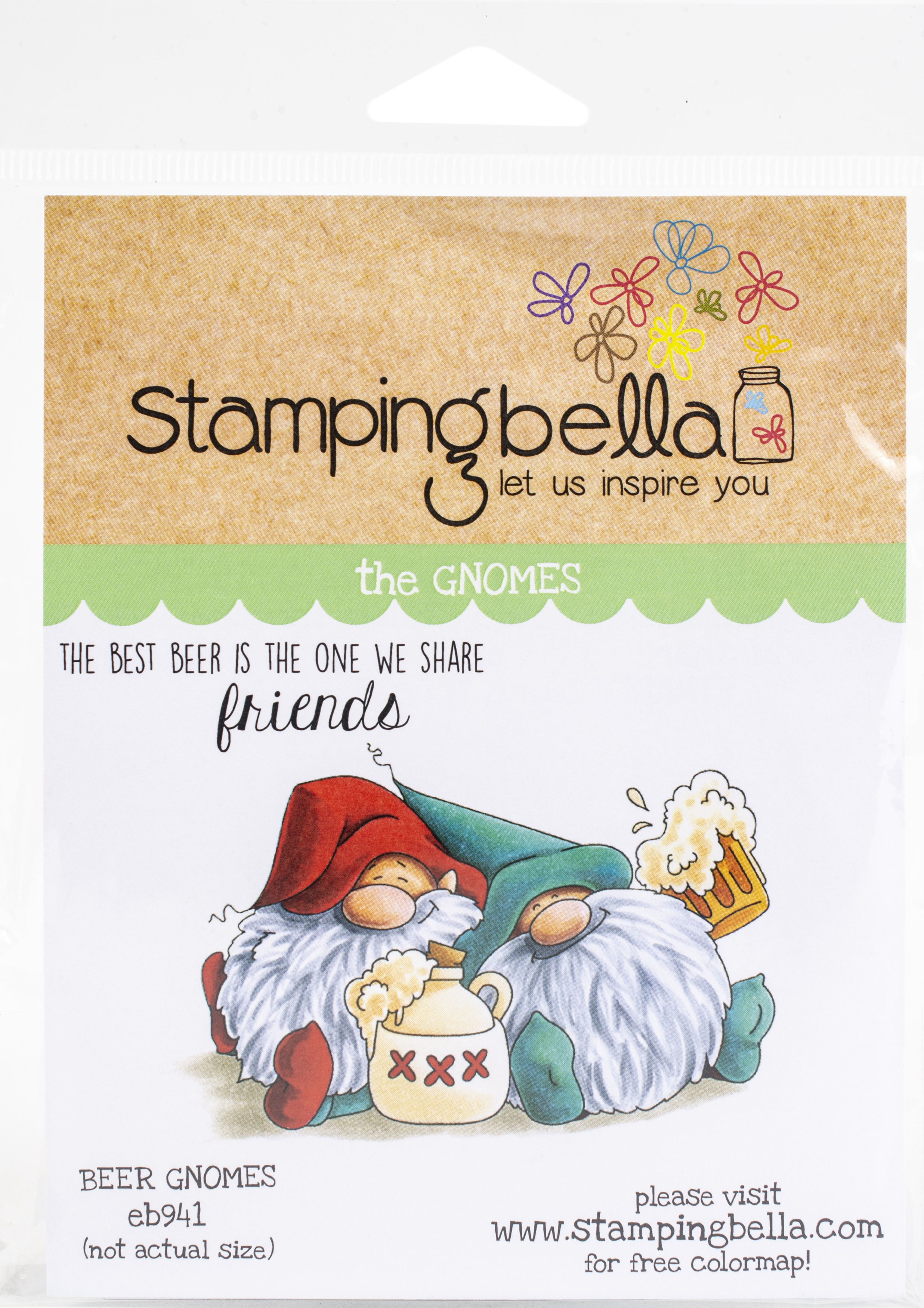 Beer Gnomes-Stamping Bella Cling Stamps