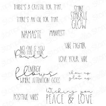 Stamping Bella Cling Stamps-Good Vibes Sentiment Set