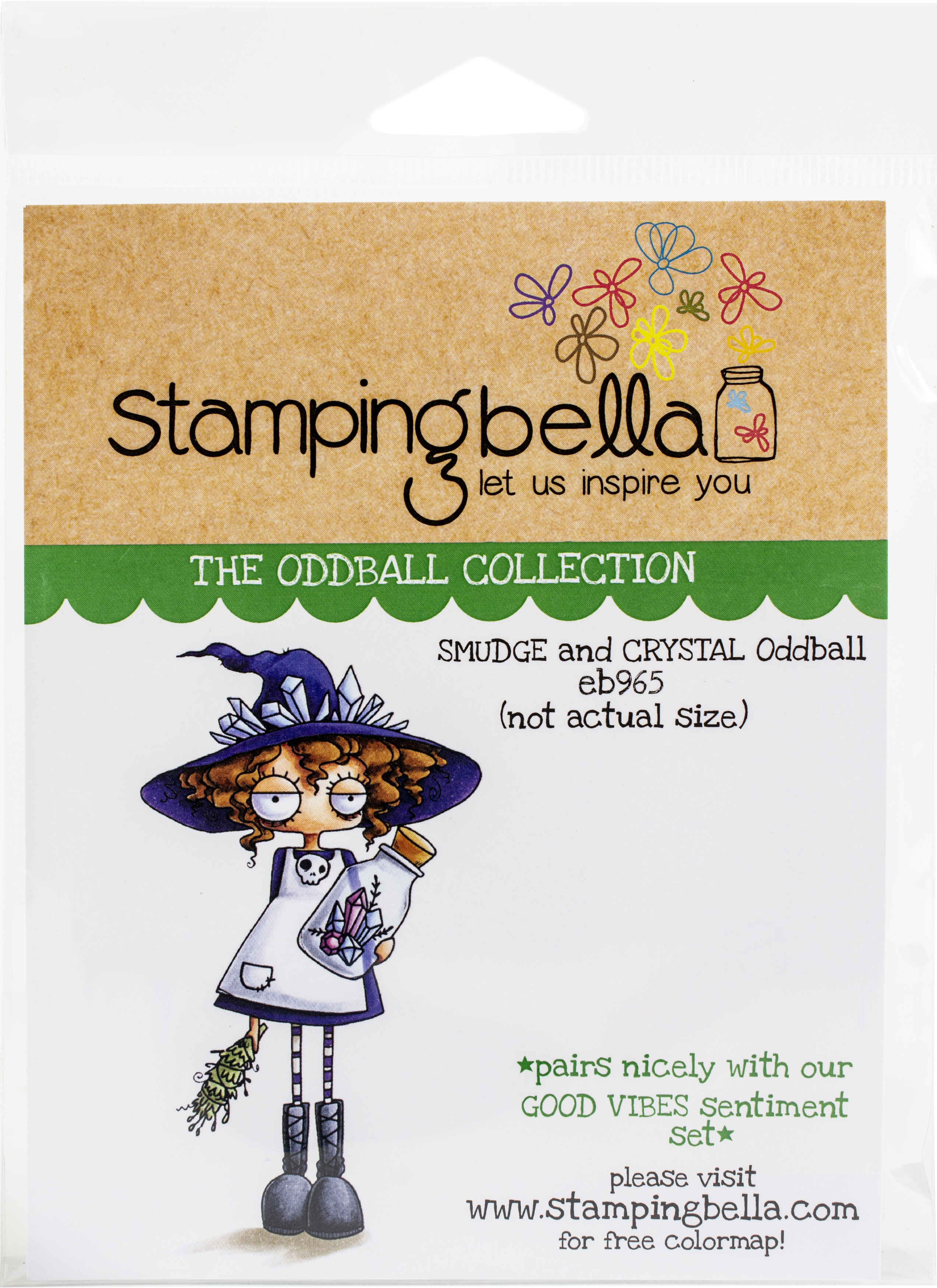 Stamping Bella Cling Stamps - Smudge & Crystal Oddball